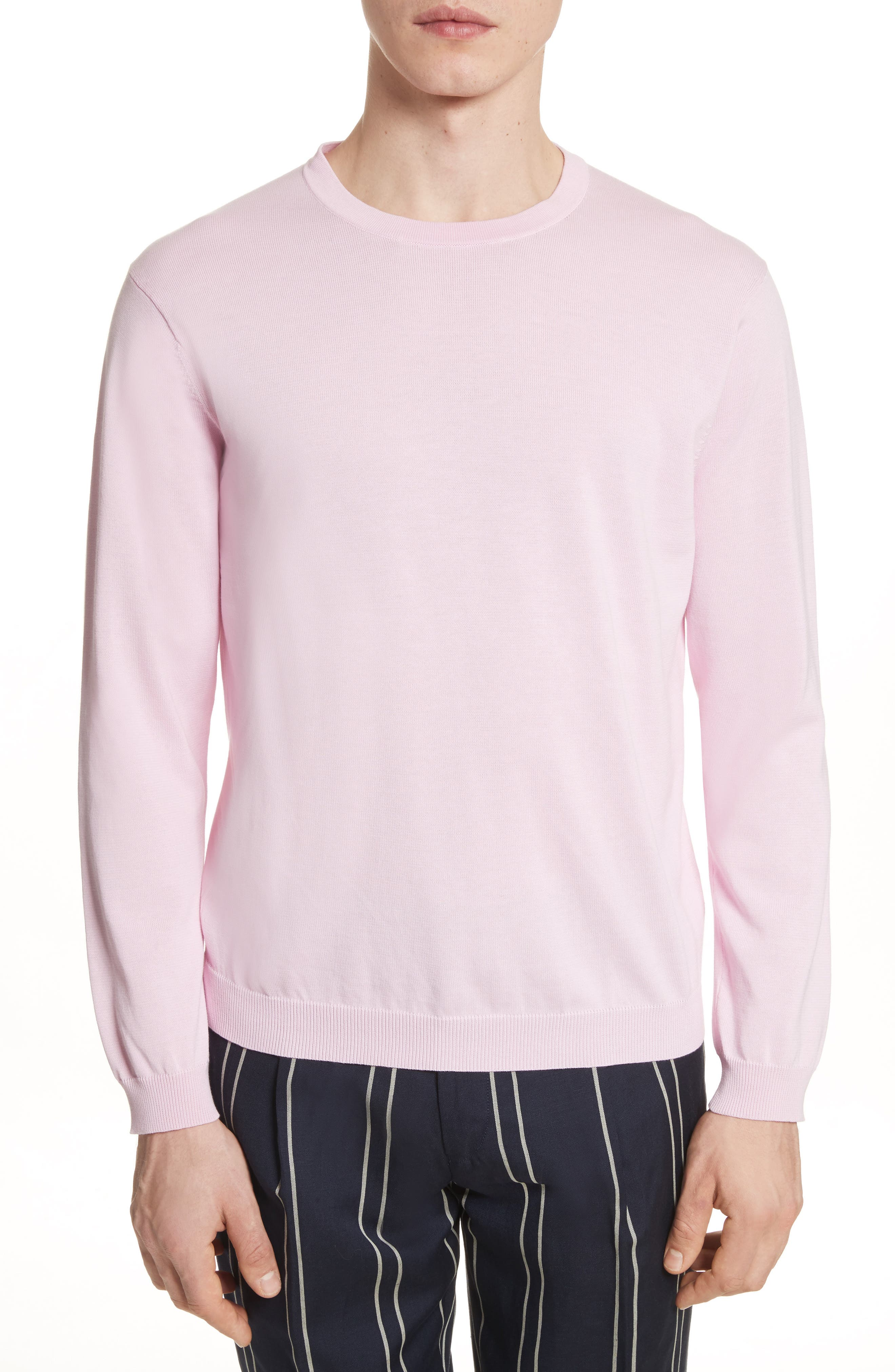 Crewneck Sweater,                         Main,                         color, Pink