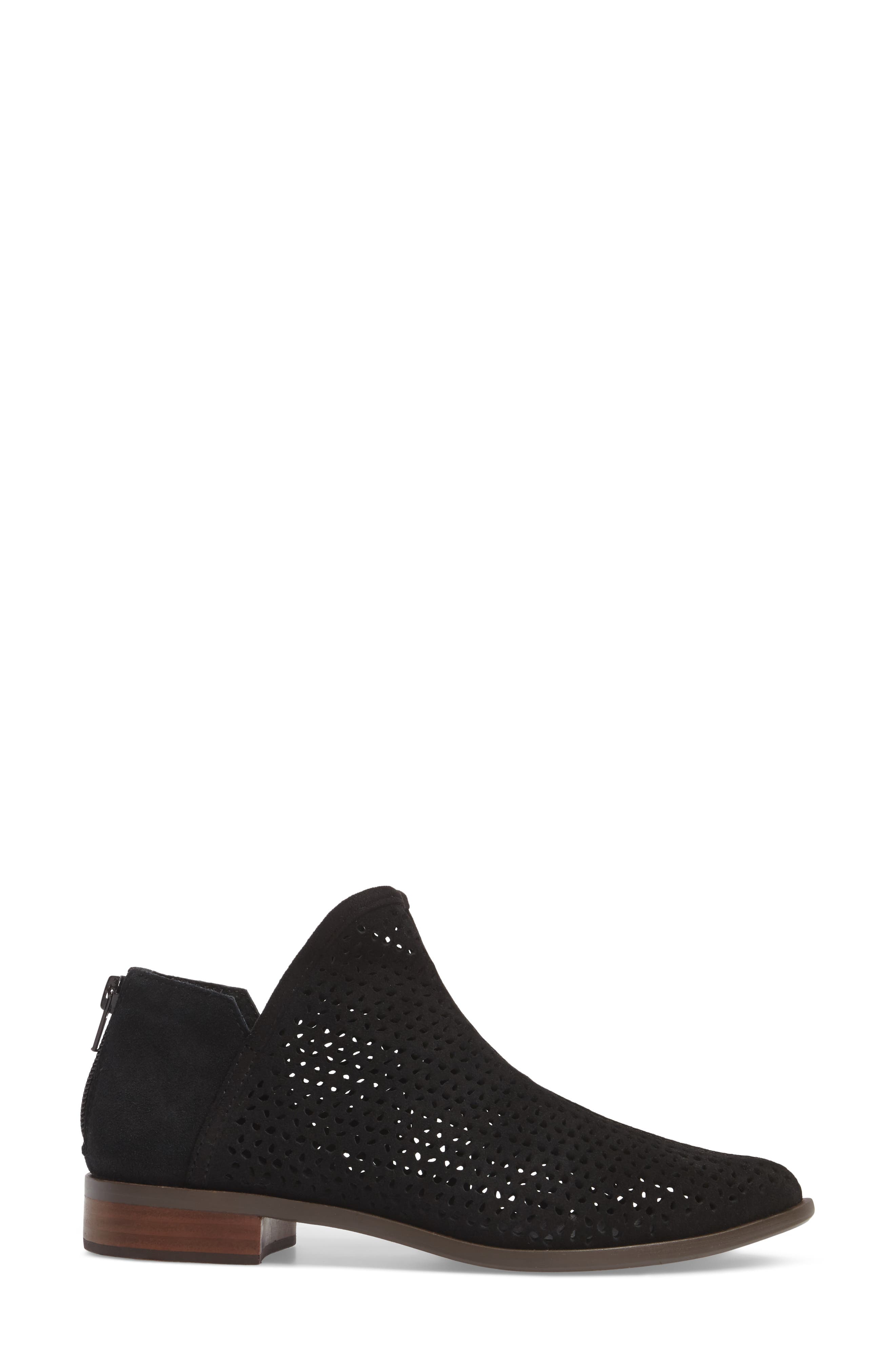 Alley Perforated Bootie,                             Alternate thumbnail 3, color,                             Black