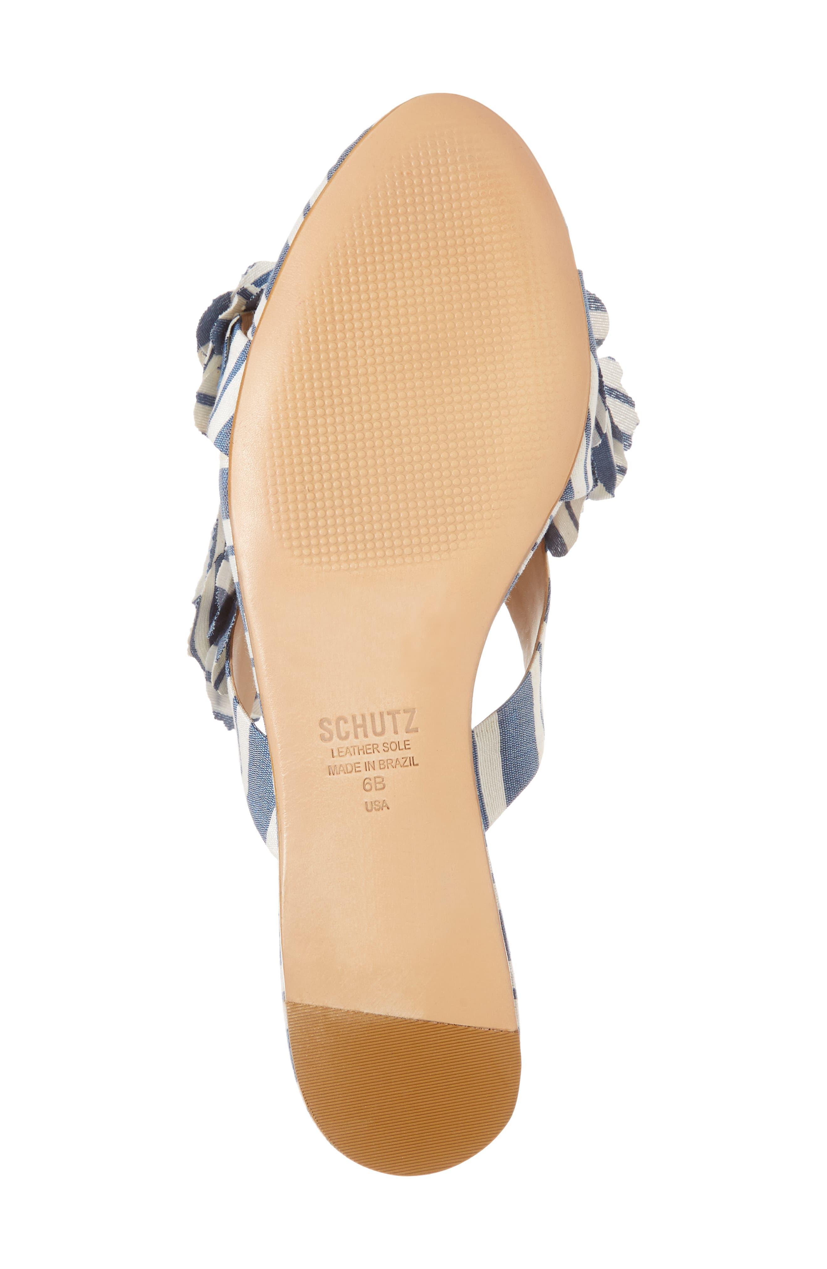 Ilaria Flower Sandal,                             Alternate thumbnail 6, color,                             Dress Blue