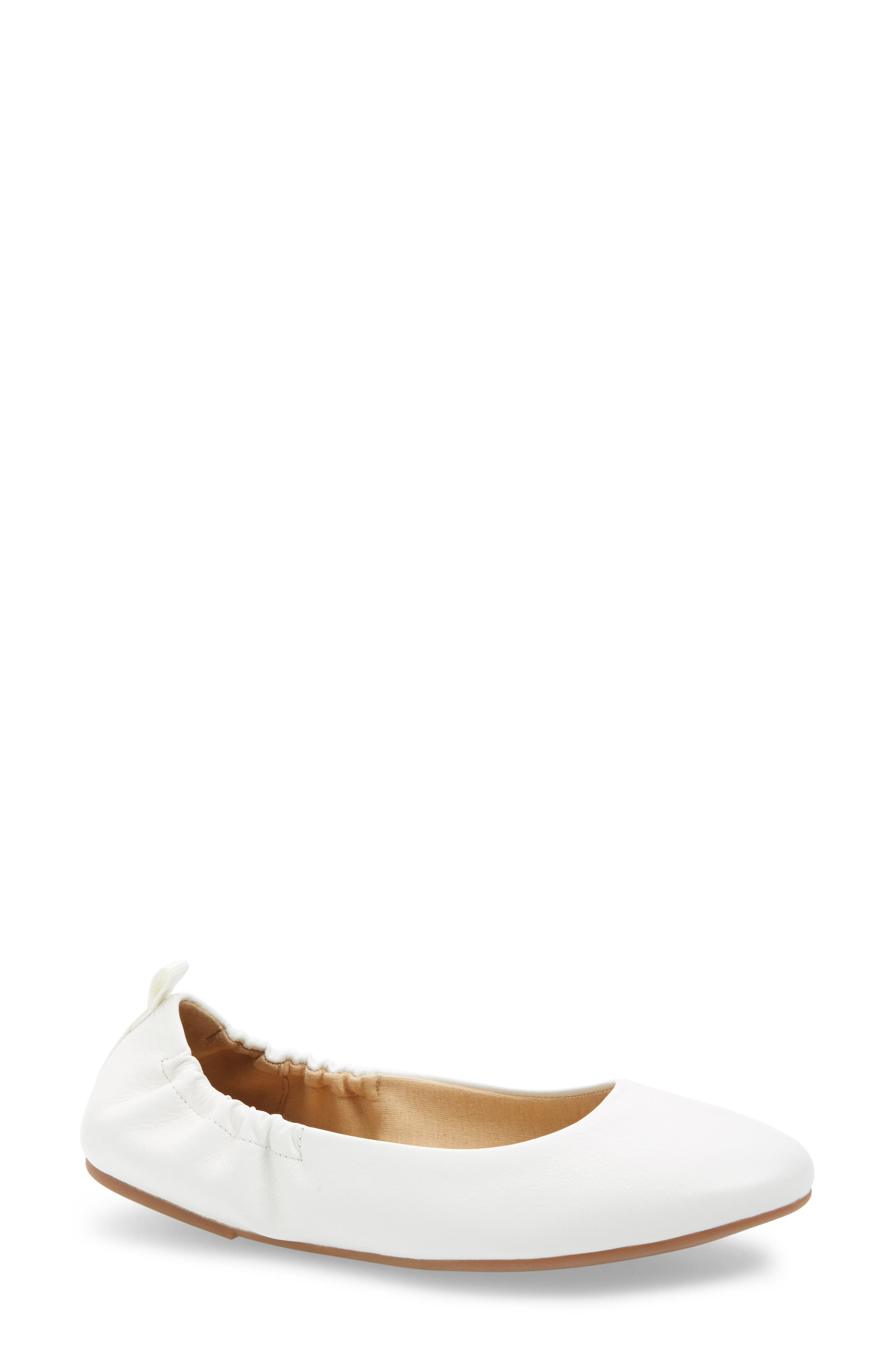 Bailee Skimmer Flat,                             Main thumbnail 1, color,                             Off White Leather