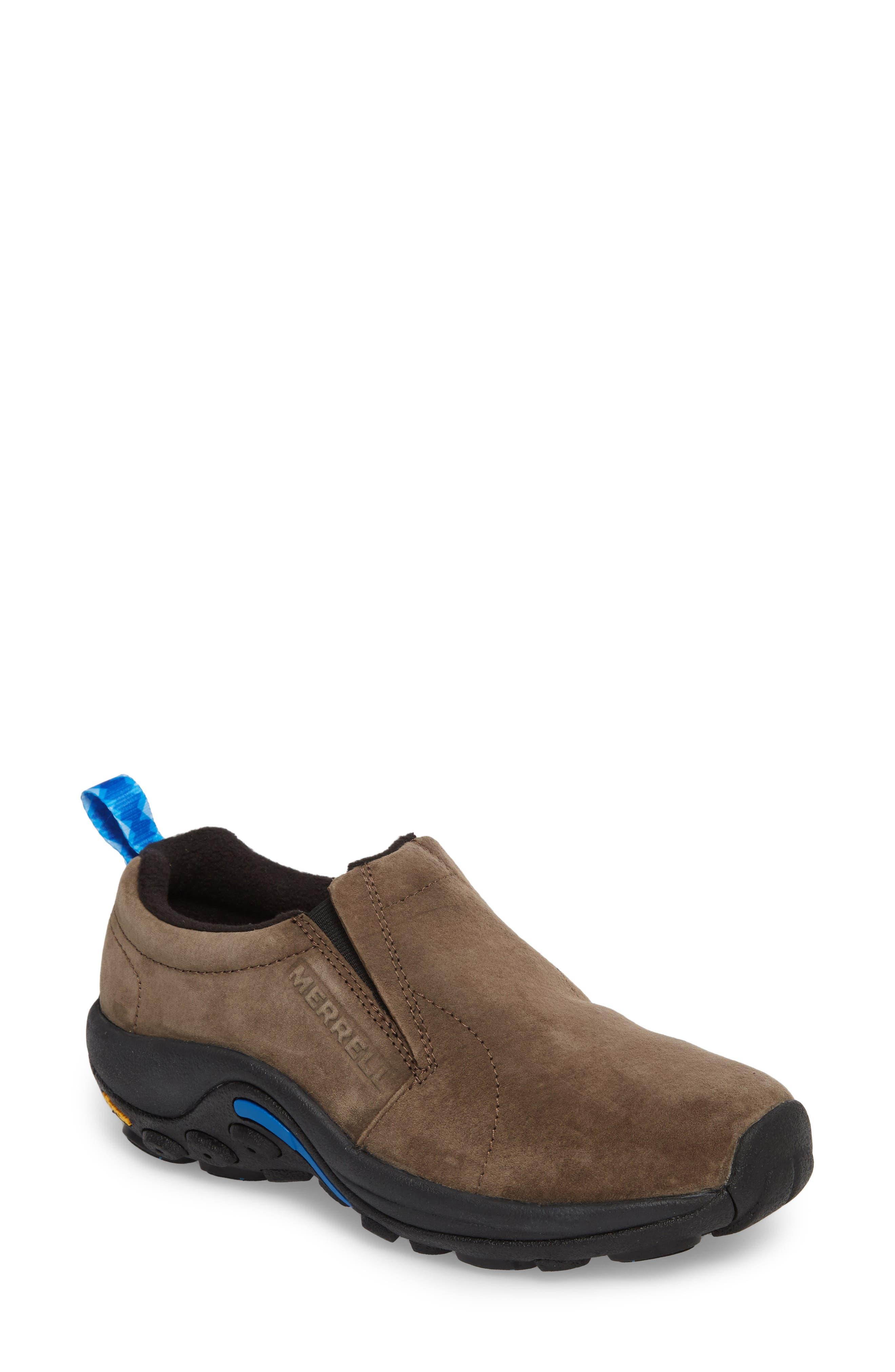 Jungle Moc Ice Waterproof Sneaker,                             Main thumbnail 1, color,                             Gun Smoke Leather