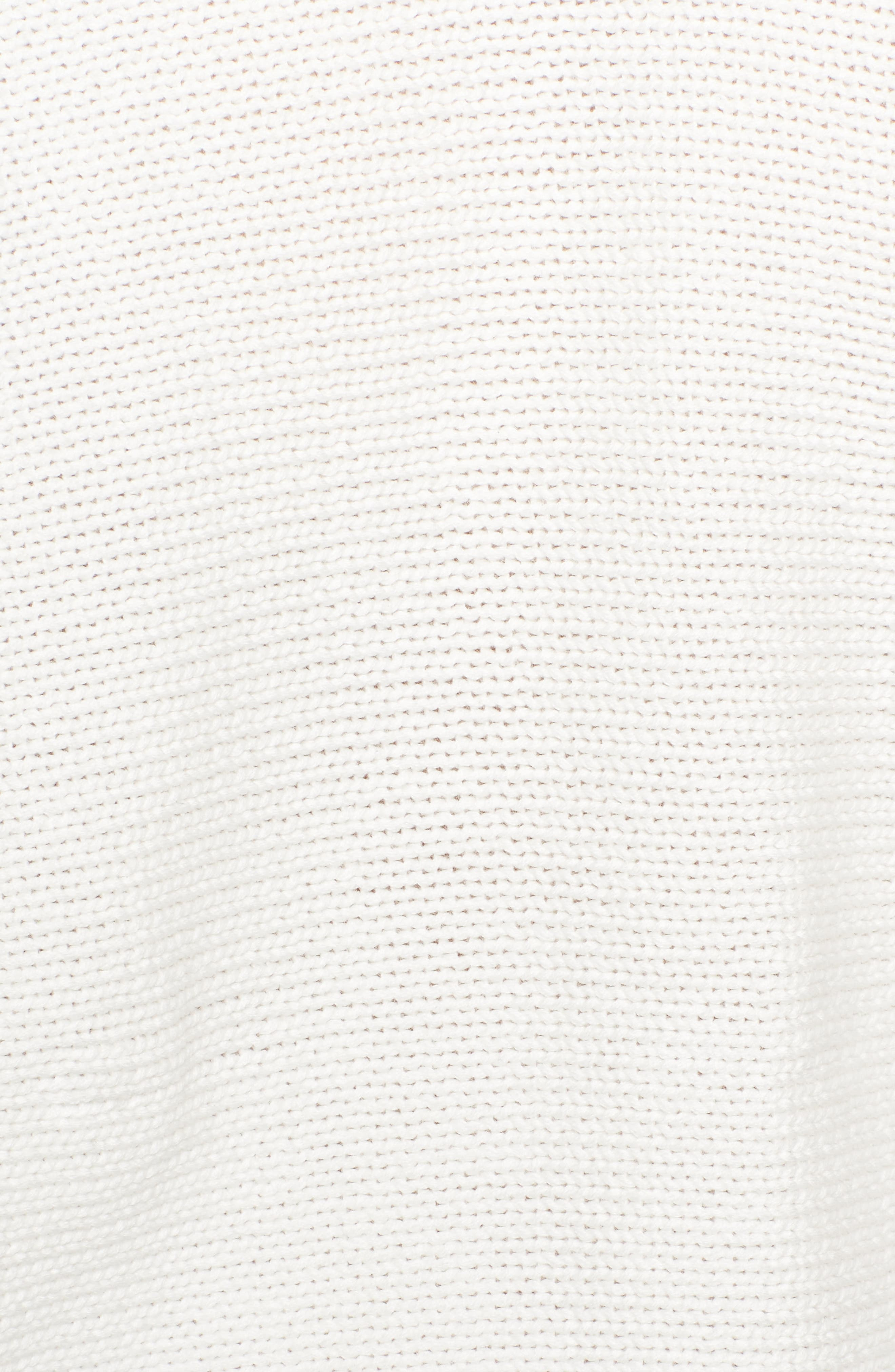 Mozart Tie Back Sweater,                             Alternate thumbnail 5, color,                             Summer White/ Utility Blue