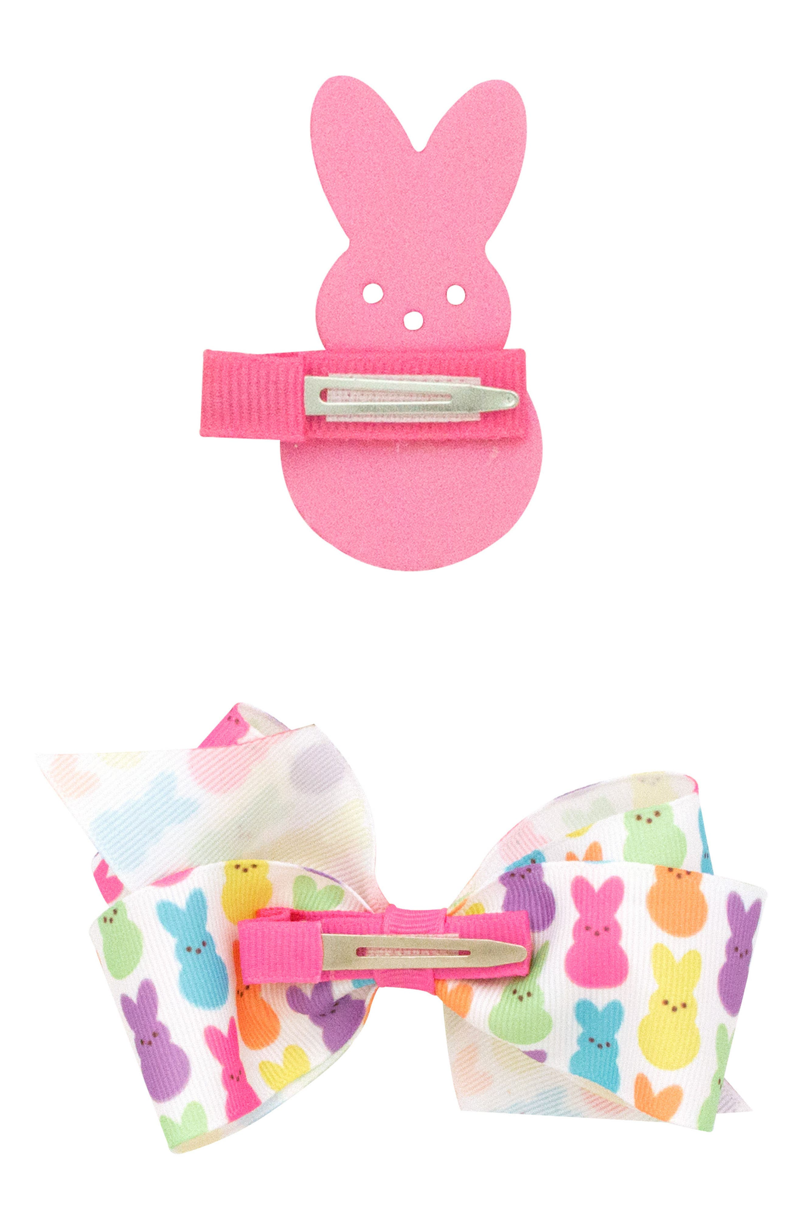 Alternate Image 2  - PLH Bows & Laces 2-Pack Clips (Baby Girls)
