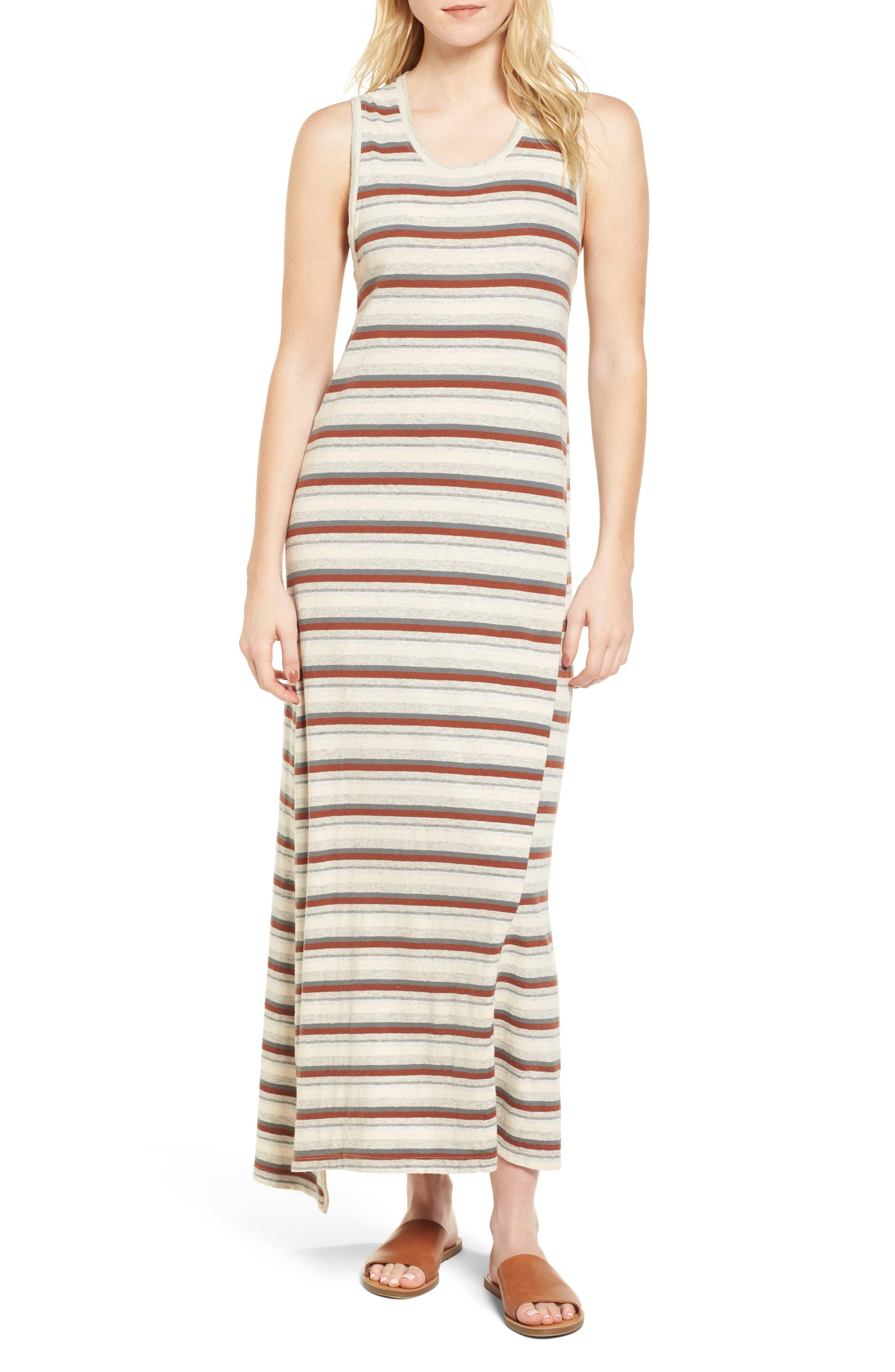 Sleeveless Stripe Dress,                         Main,                         color, Cartridge Stripe