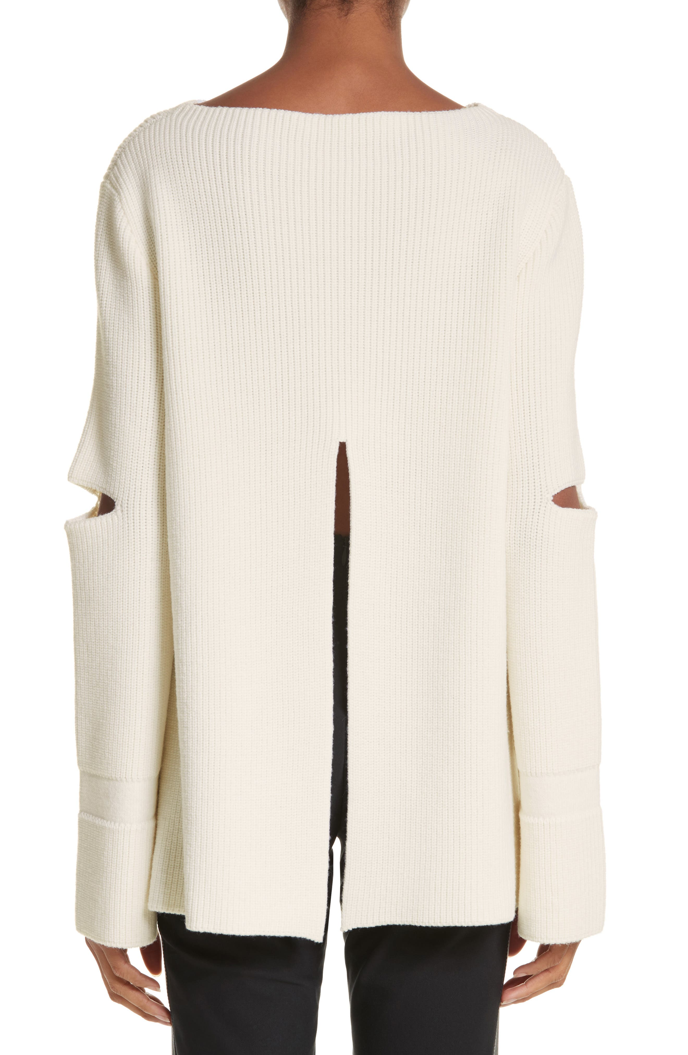 Alternate Image 2  - Stella McCartney Slit Back Virgin Wool Blend Sweater