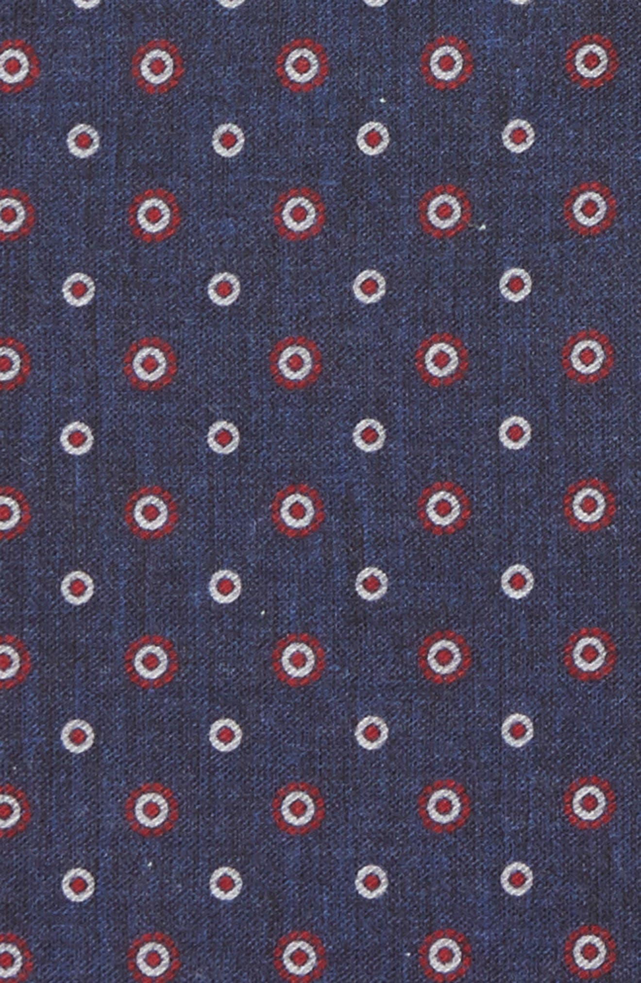 Medallion Wool & Cotton Pocket Square,                             Alternate thumbnail 2, color,                             Blue