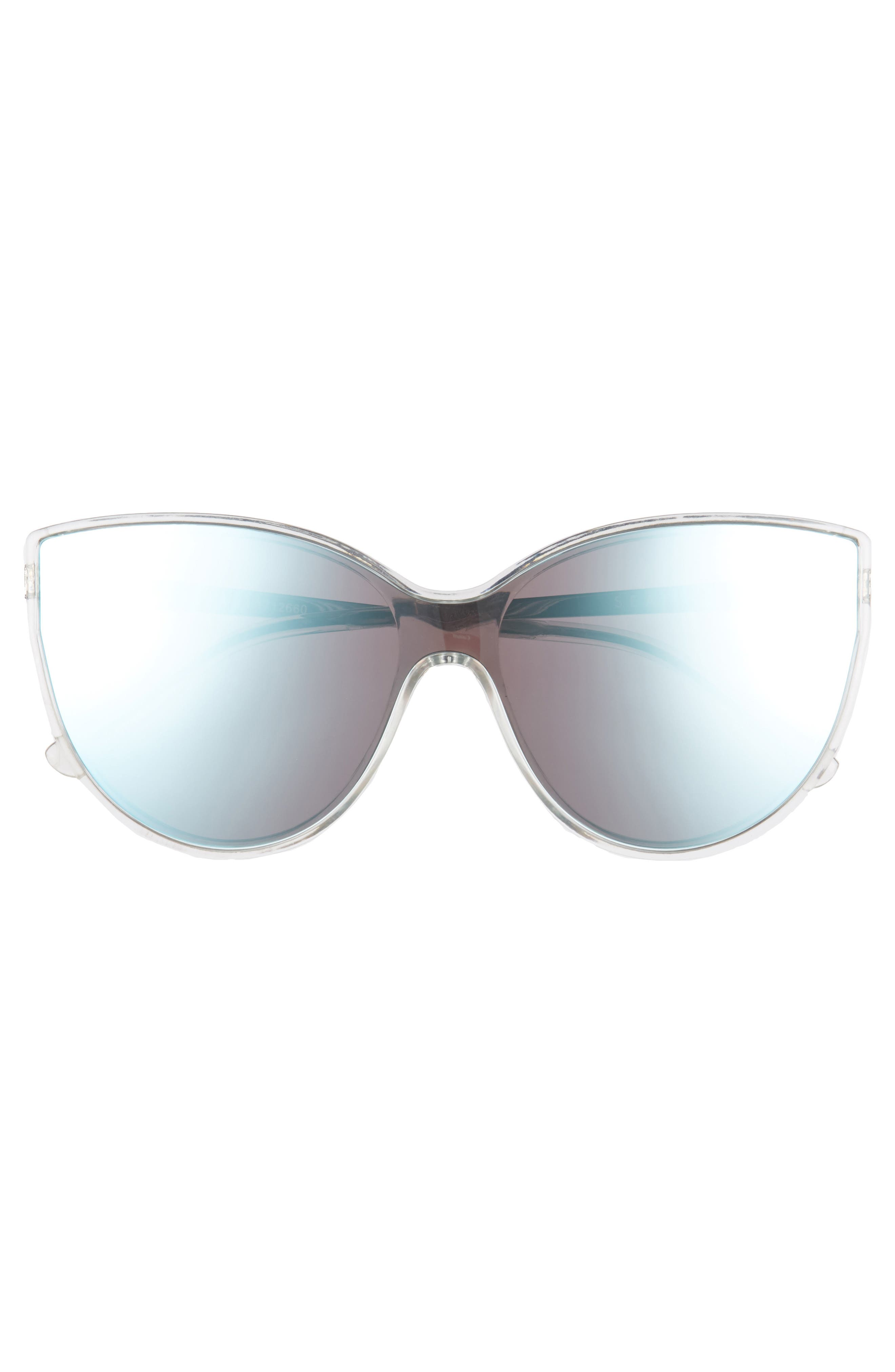 Tortola 60mm Cat Eye Sunglasses,                             Alternate thumbnail 3, color,                             Clear