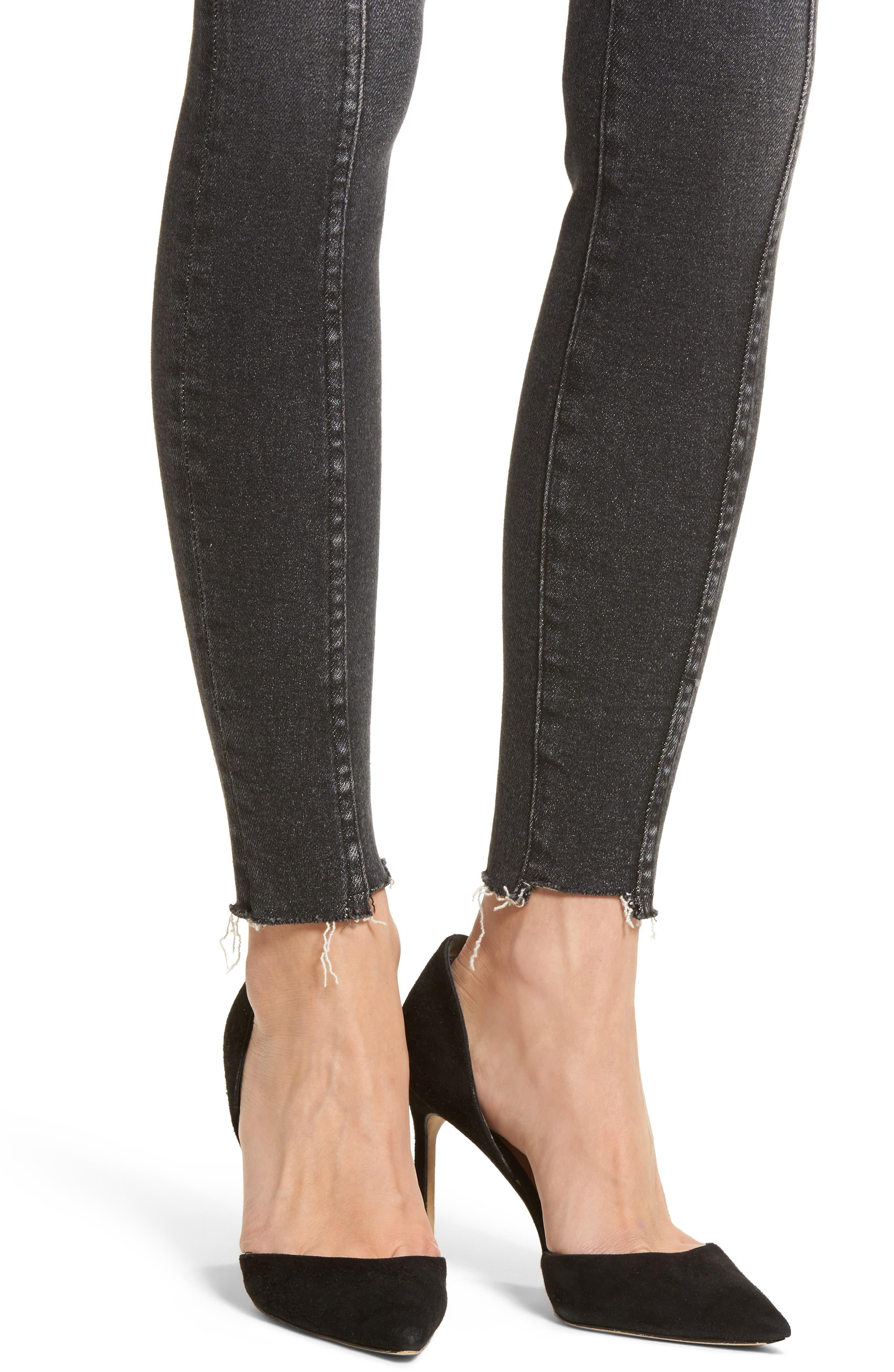 The Ultra High Waist Ankle Skinny Jeans,                             Alternate thumbnail 4, color,                             Halen/ Micro Step Hem