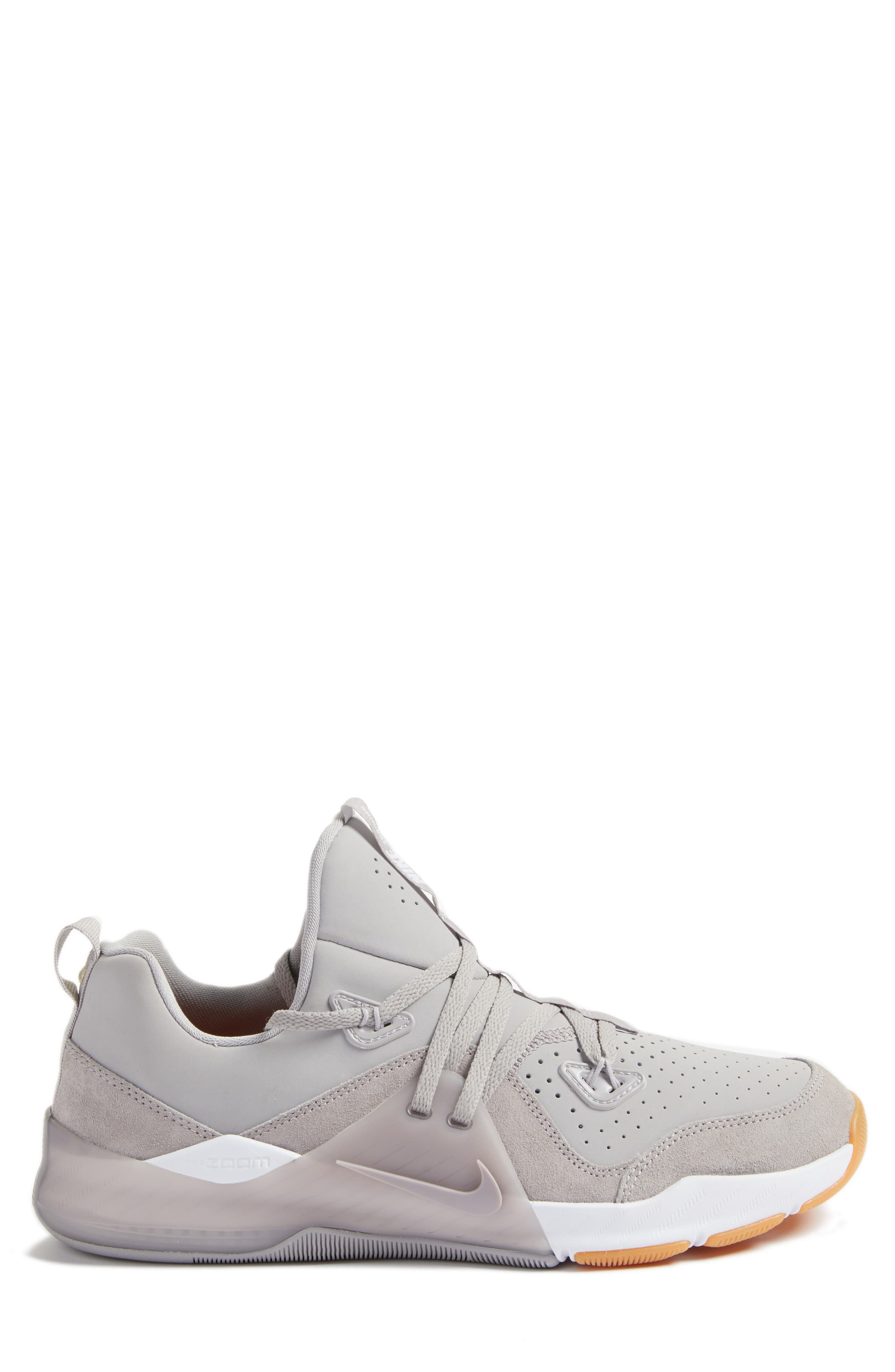 Zoom Train Command Training Shoe,                             Alternate thumbnail 3, color,                             Atmosphere Grey/ White/ Brown