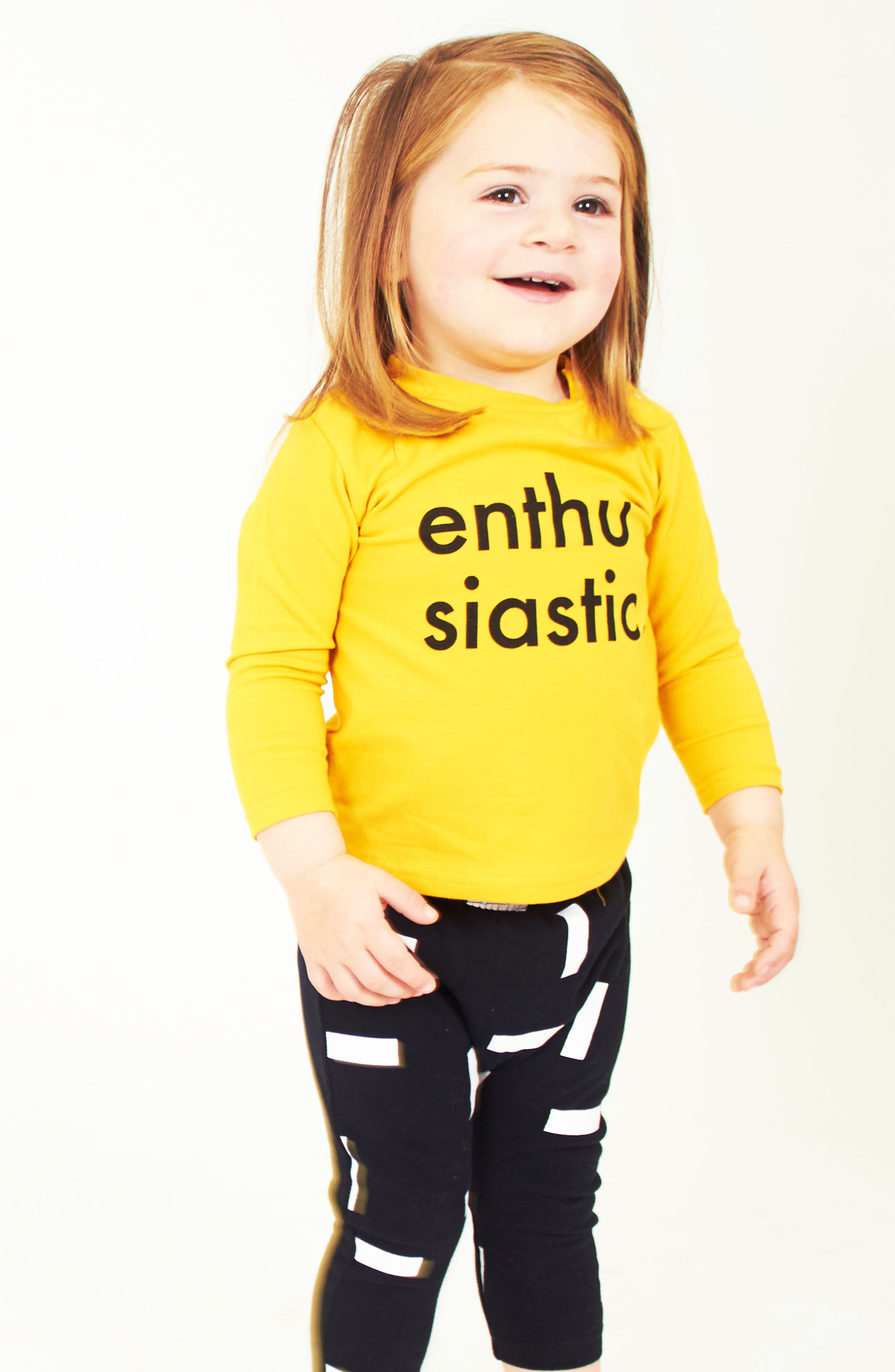 Alternate Image 3  - Tiny Tribe Enthusiastic T-Shirt & Jogger Pants Set (Baby)