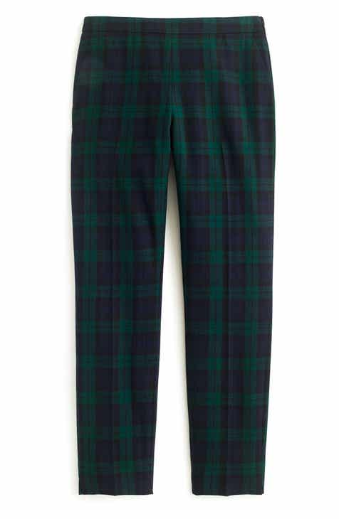 6cff626ac74e6b J.Crew Martie Black Watch Stretch Wool Blend Crop Pants