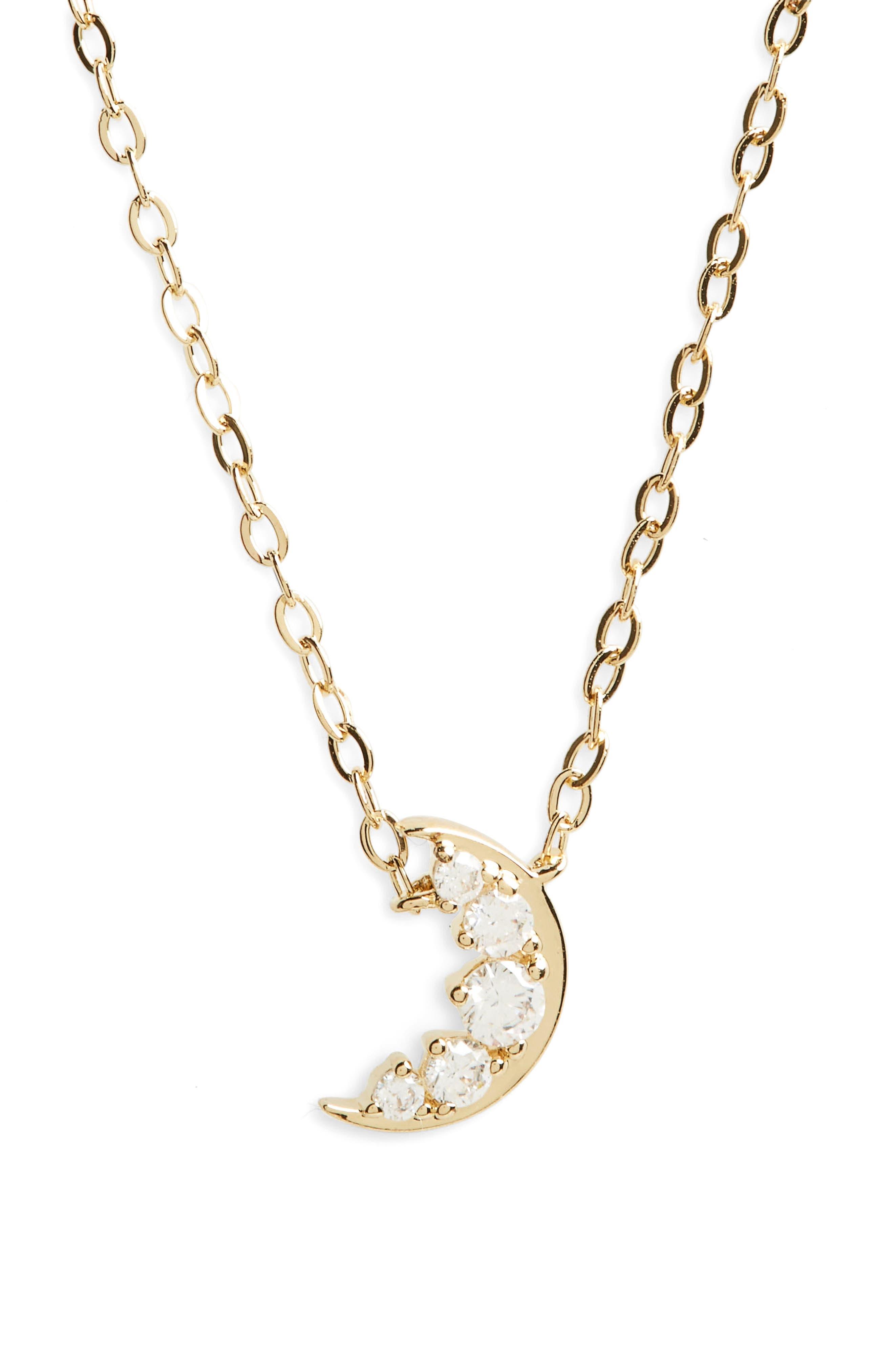 Alternate Image 1 Selected - Nadri Reminisce Moon Pendant Necklace