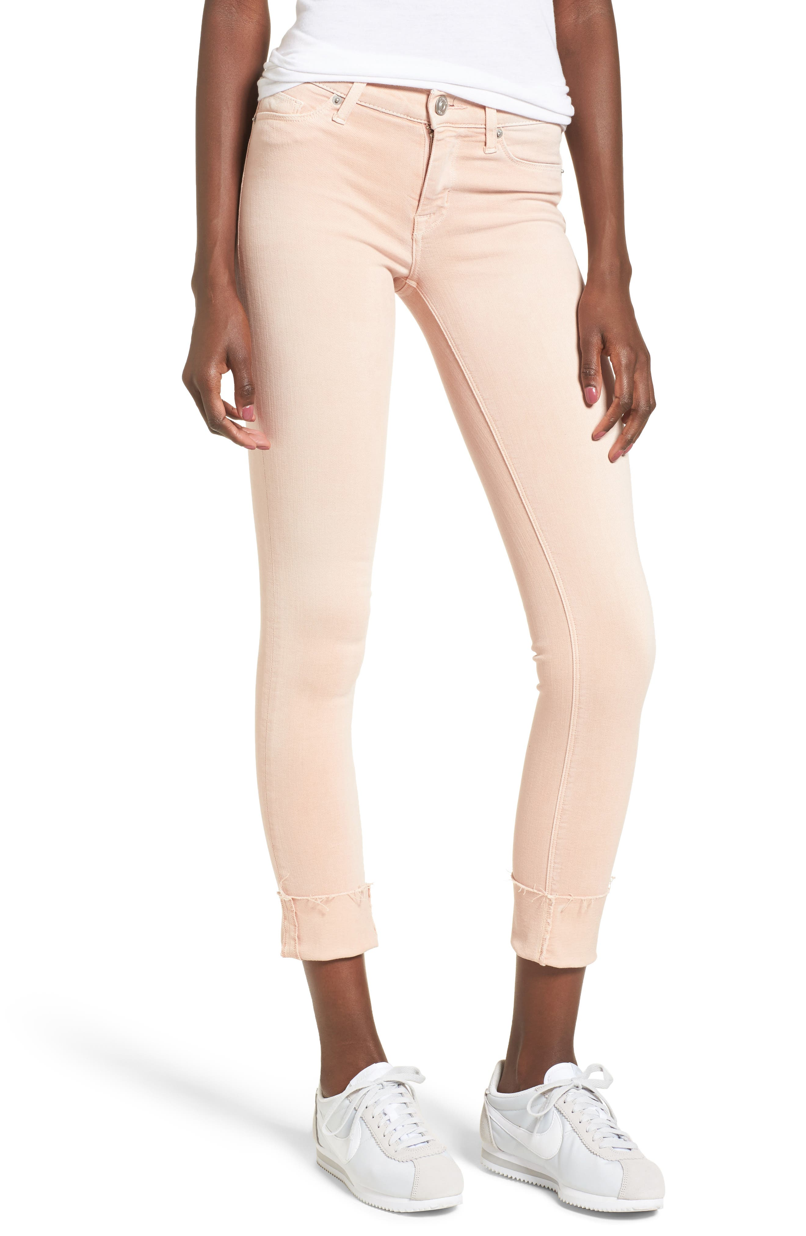 Tally Crop Skinny Jeans,                             Main thumbnail 1, color,                             Worn Rosewater