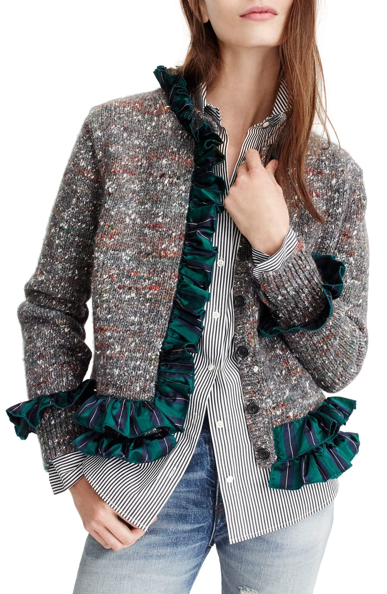 Sweater Lady Jacket,                             Main thumbnail 1, color,                             Charcoal Multi