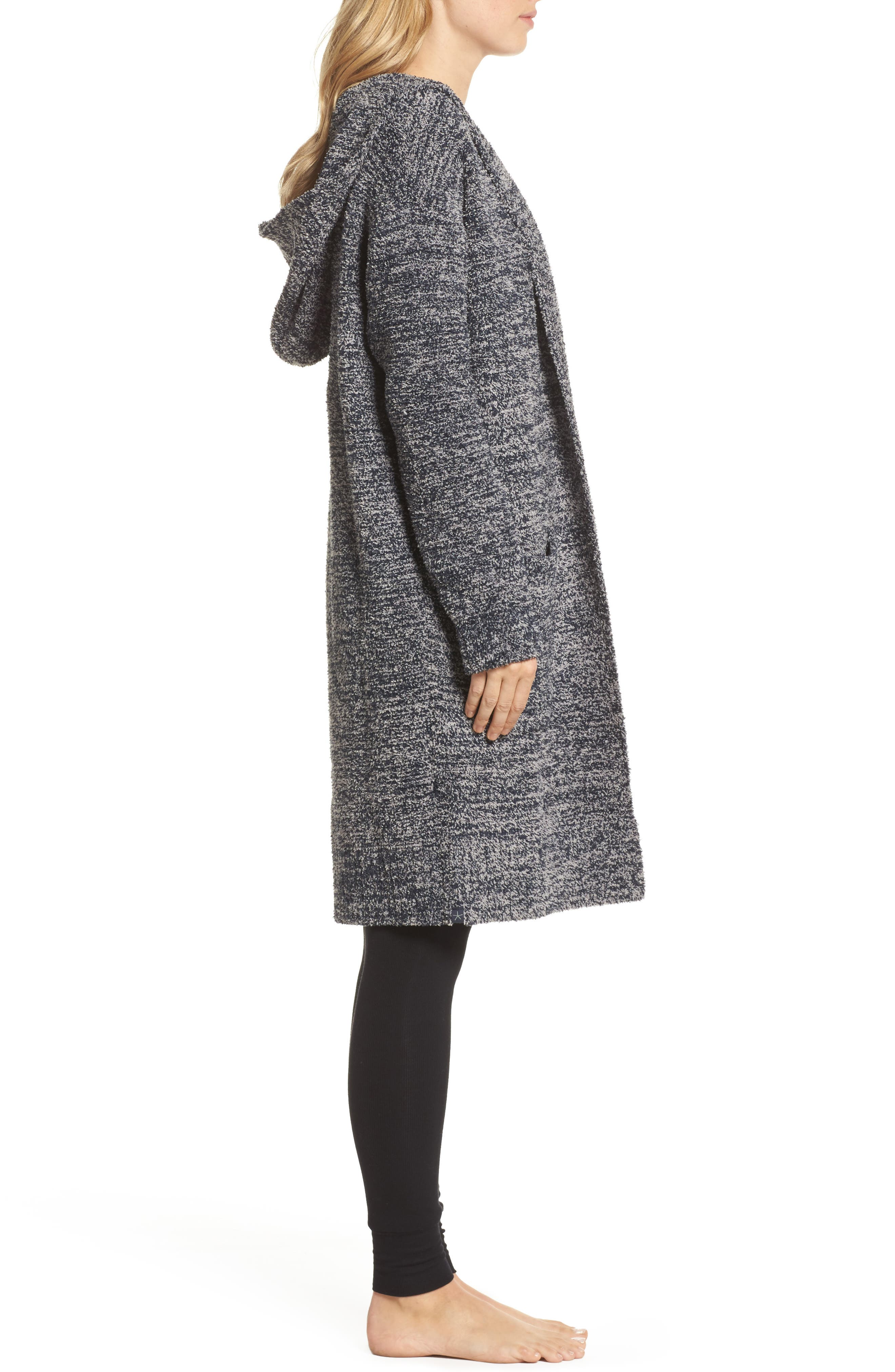CozyChic<sup>®</sup> California Lounge Coat,                             Alternate thumbnail 3, color,                             Indigo/ Dove