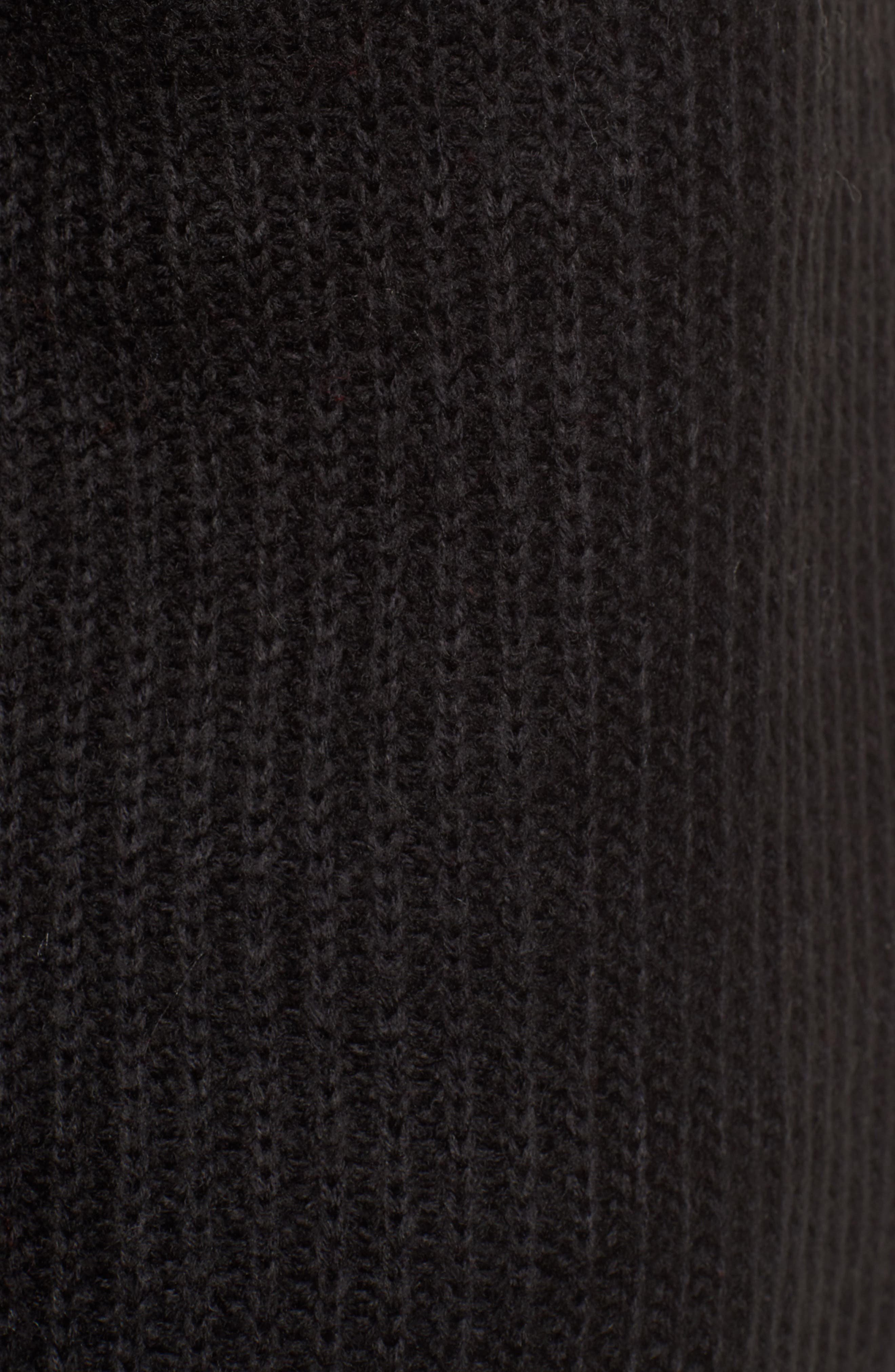 Tie Sleeve Sweater,                             Alternate thumbnail 5, color,                             Black