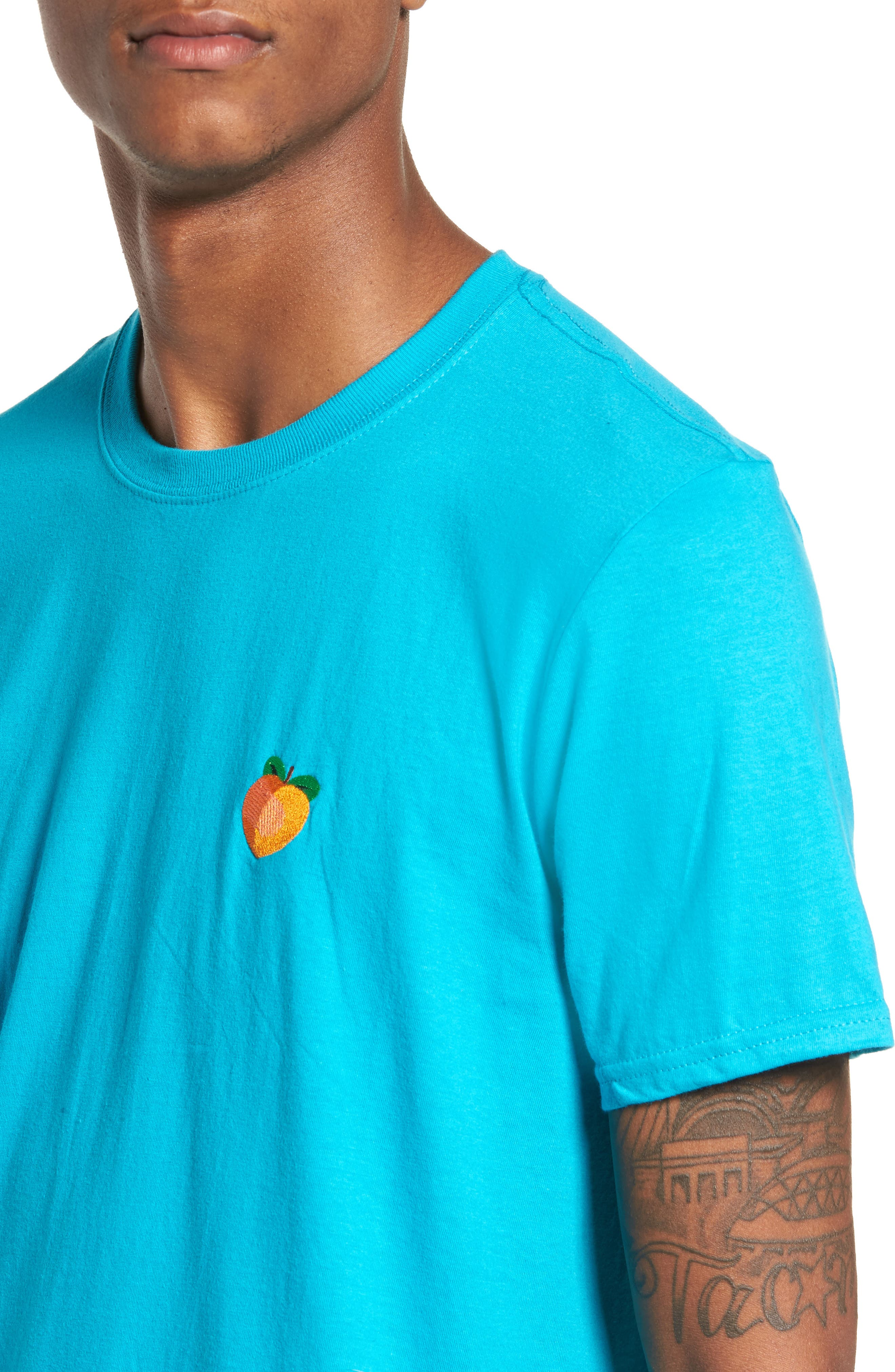 Alternate Image 4  - The Rail Embroidered Peach T-Shirt
