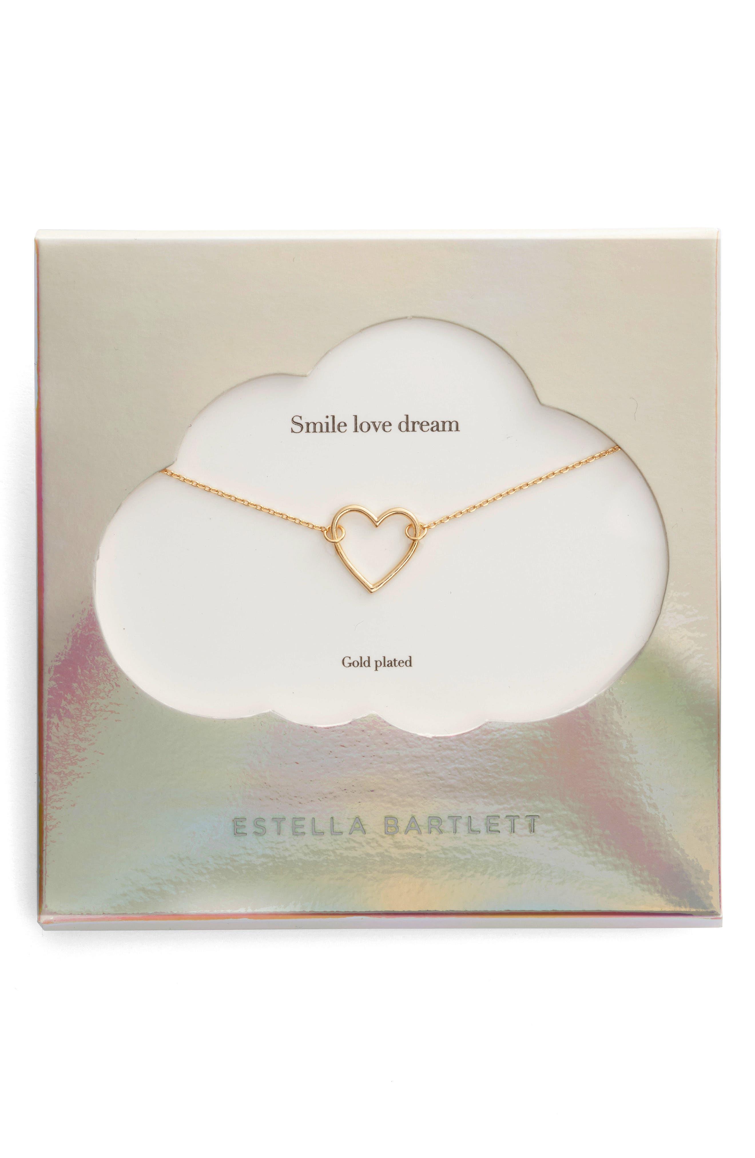Estella Bartlett Smile Dream Love Open Heart Necklace