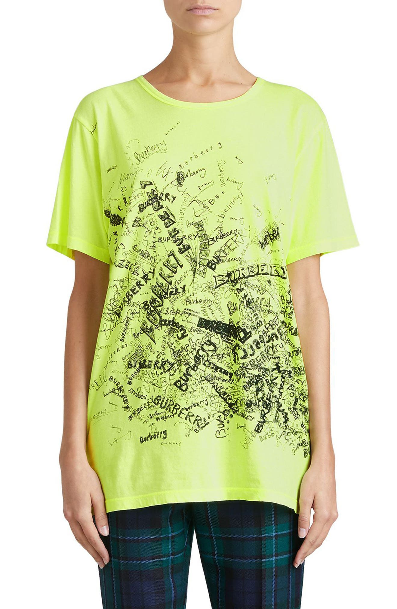 Burberry Rydon Print Cotton Tee