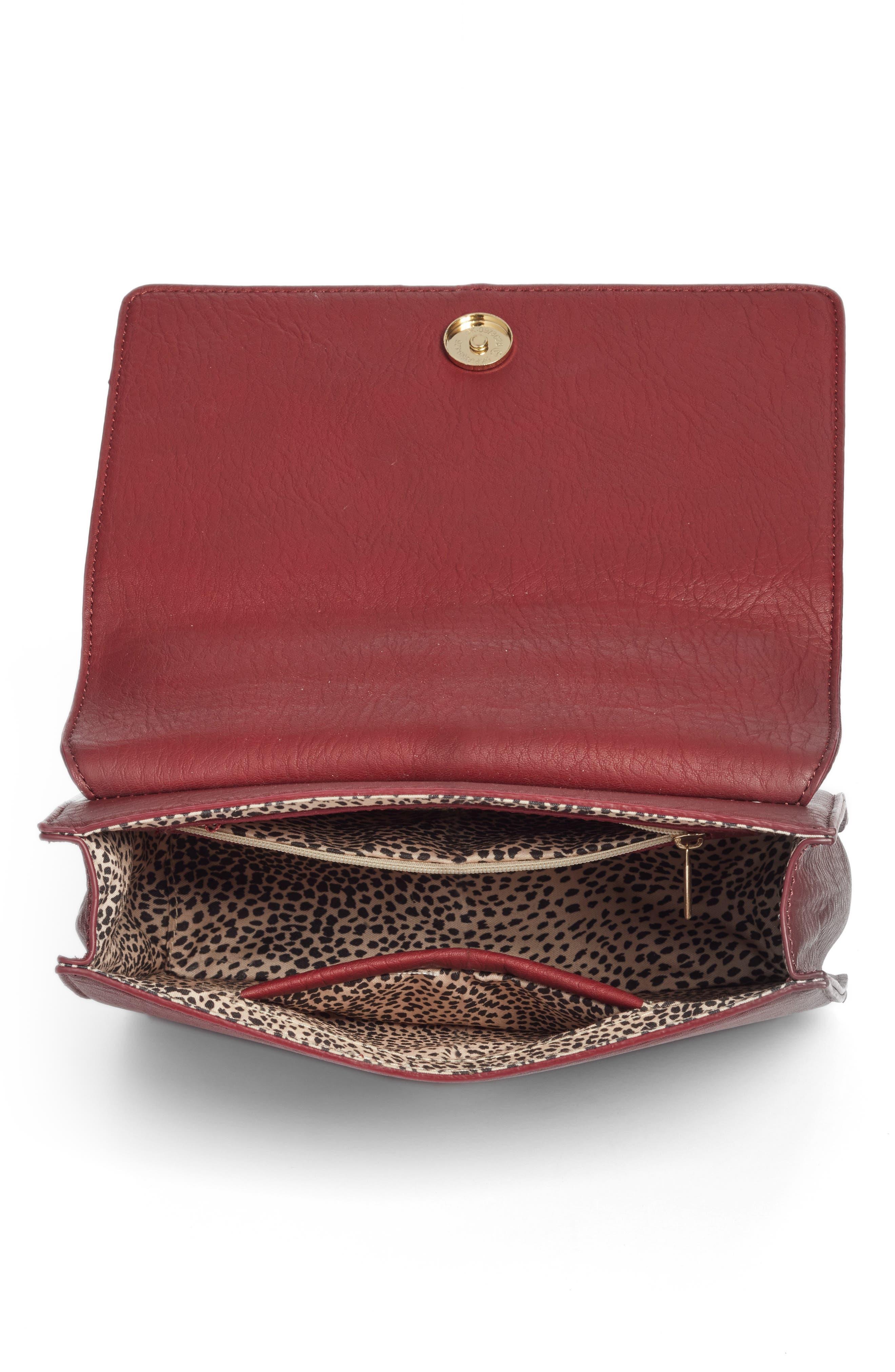 Alternate Image 4  - Sole Society Krista Faux Leather Crossbody Bag