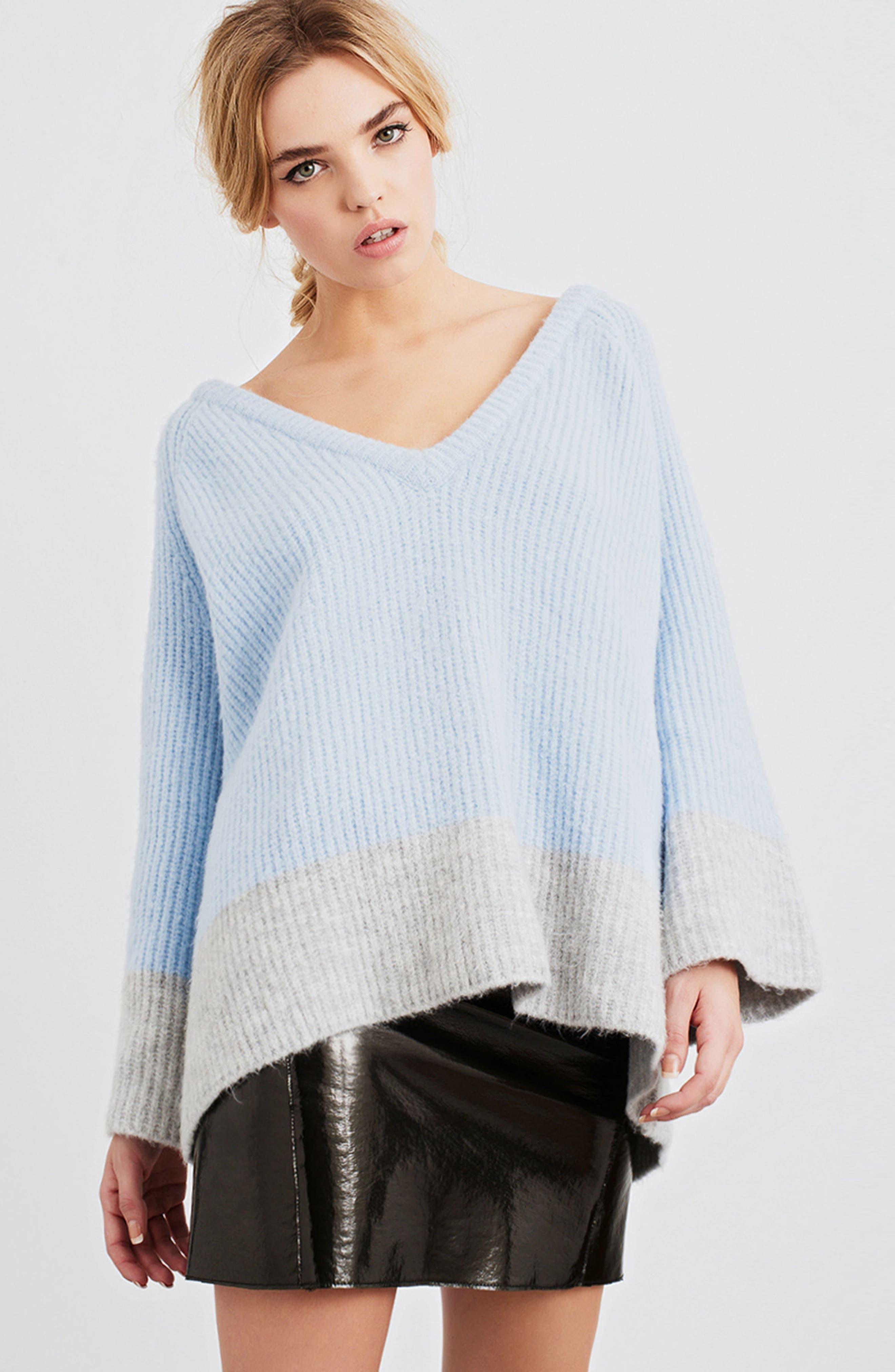 Alternate Image 2  - LOST INK Oversize V-Neck Sweater