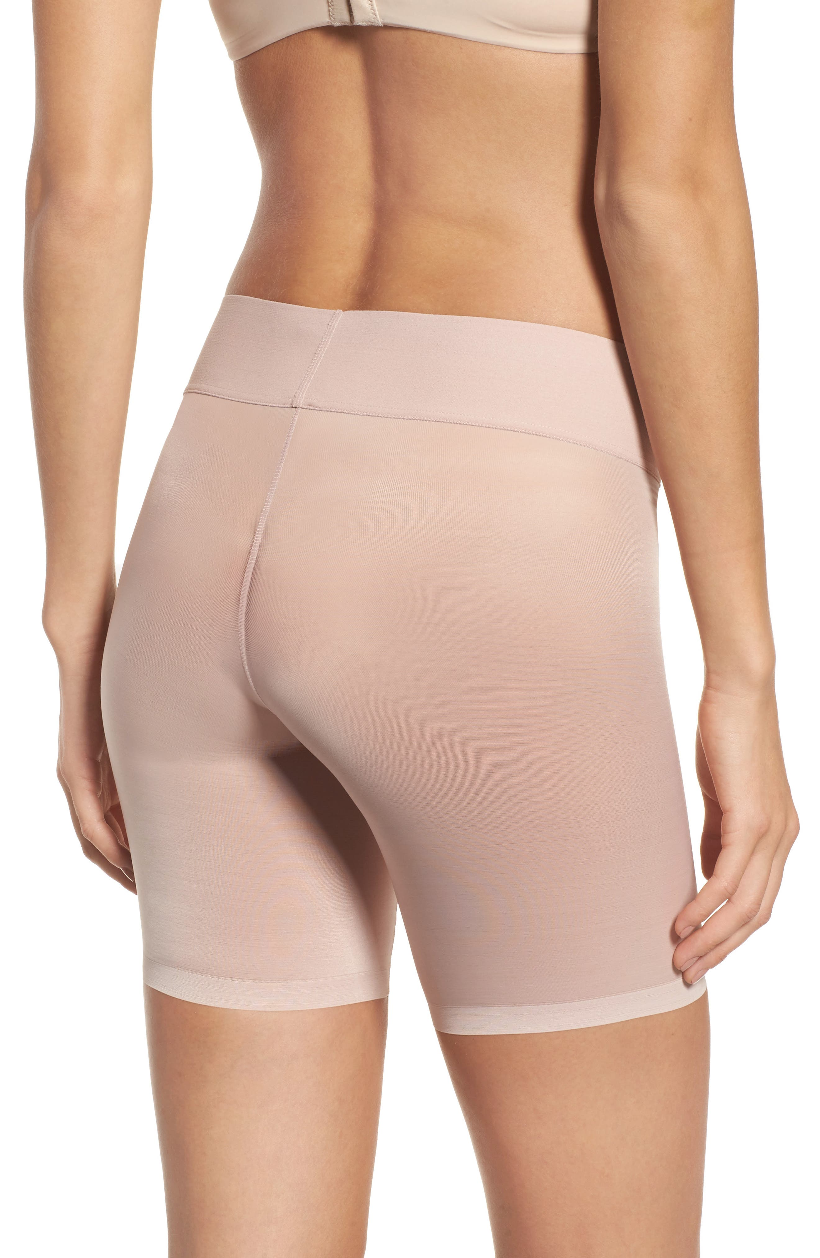 Sheer Touch Control Shorts,                             Alternate thumbnail 2, color,                             Rosepowder