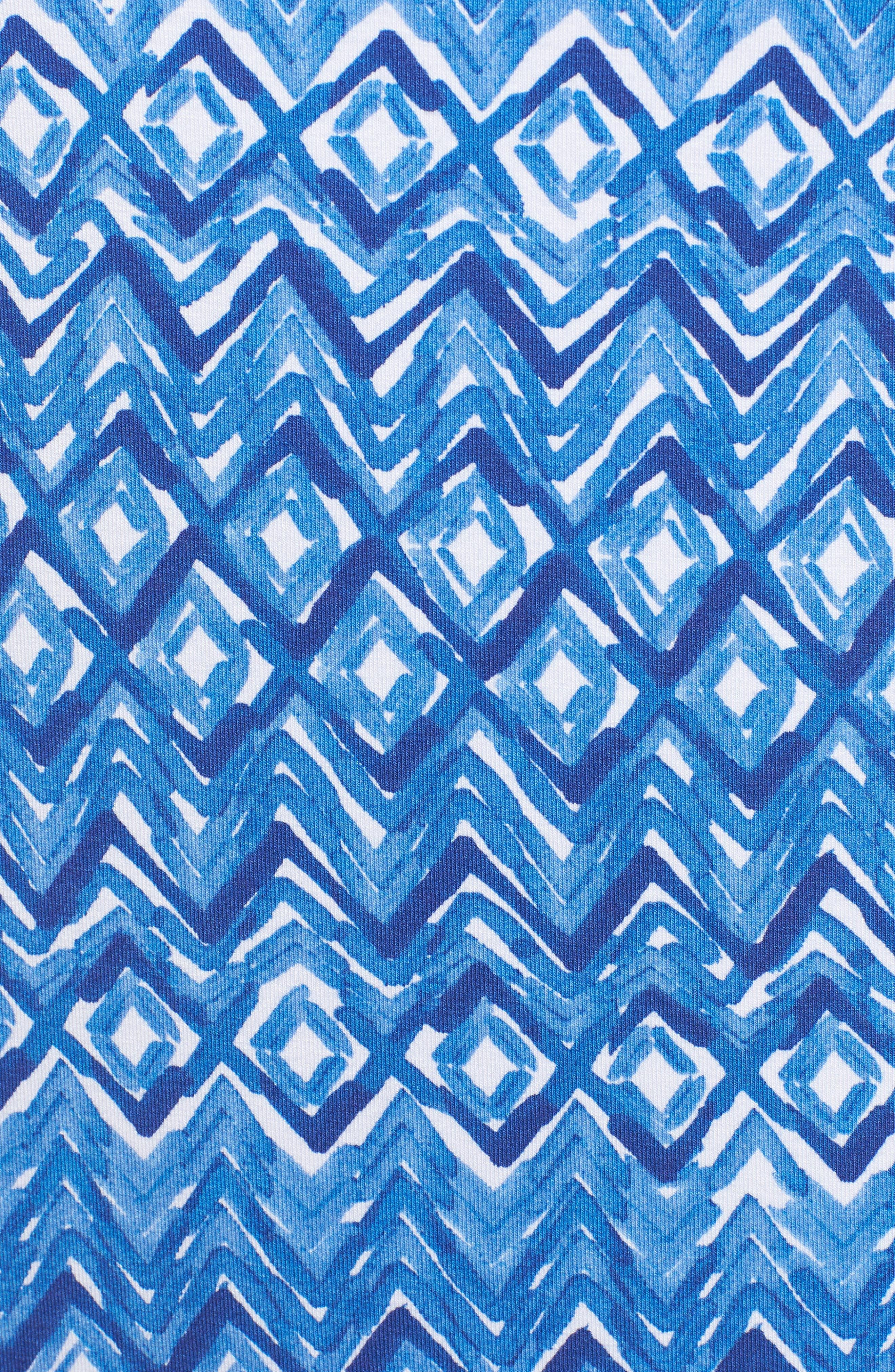 Waveprancer Shift Dress,                             Alternate thumbnail 5, color,                             Violet Petal