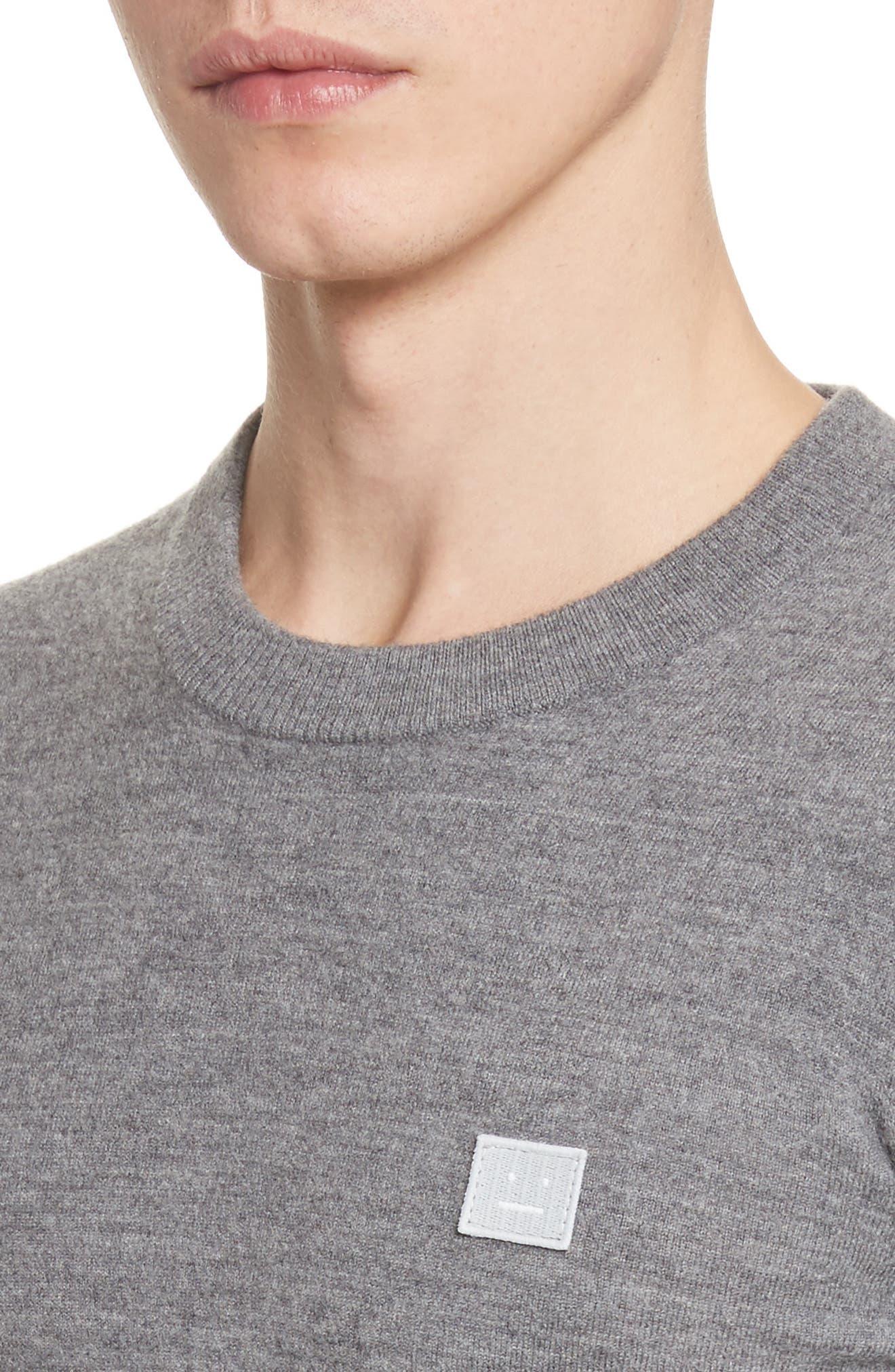 Nalon Wool Sweater,                             Alternate thumbnail 4, color,                             Grey Melange