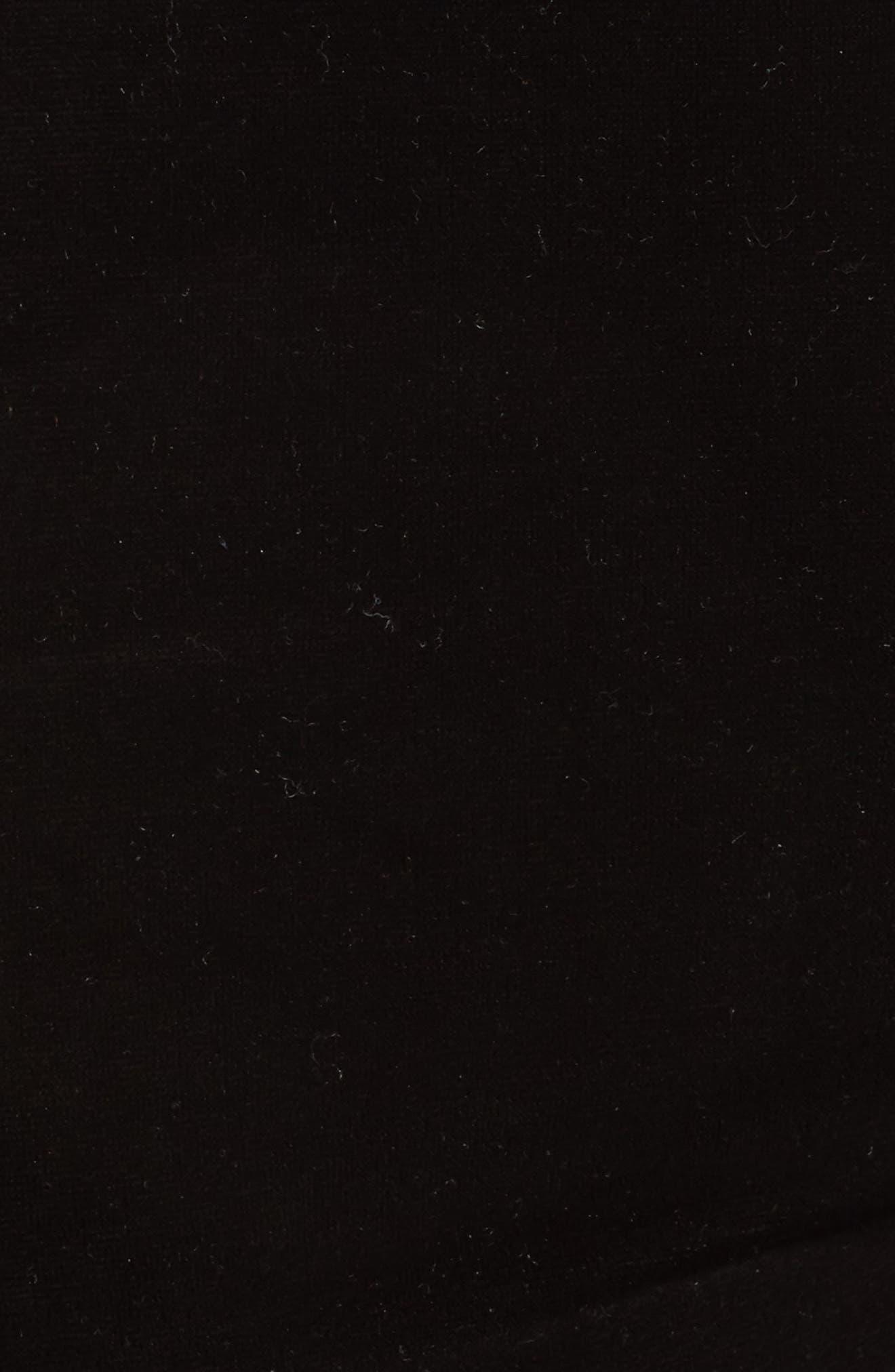 Velour Moto Leggings,                             Alternate thumbnail 5, color,                             Black