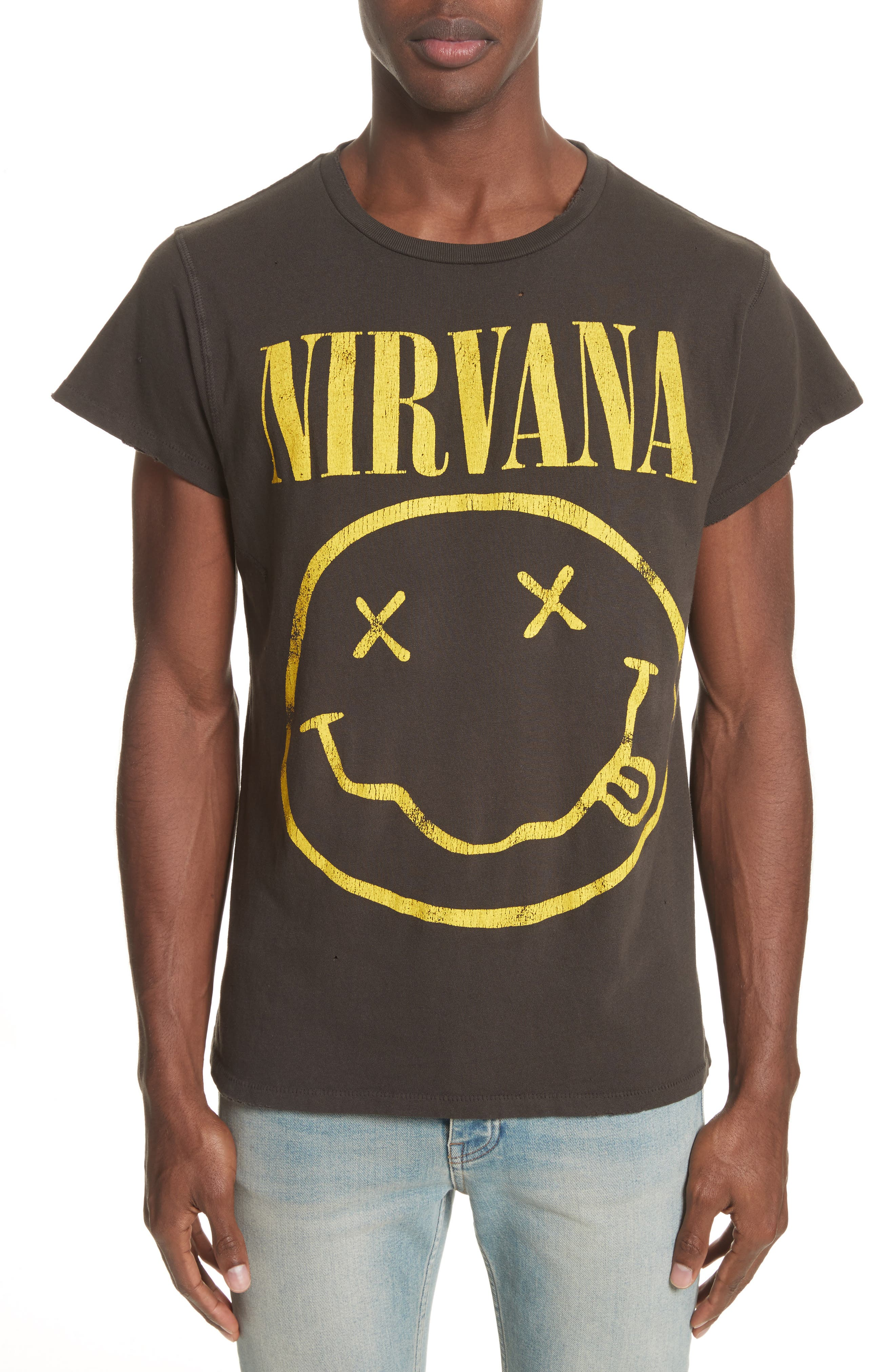 Nirvana Graphic T-Shirt,                         Main,                         color, Dirty Black