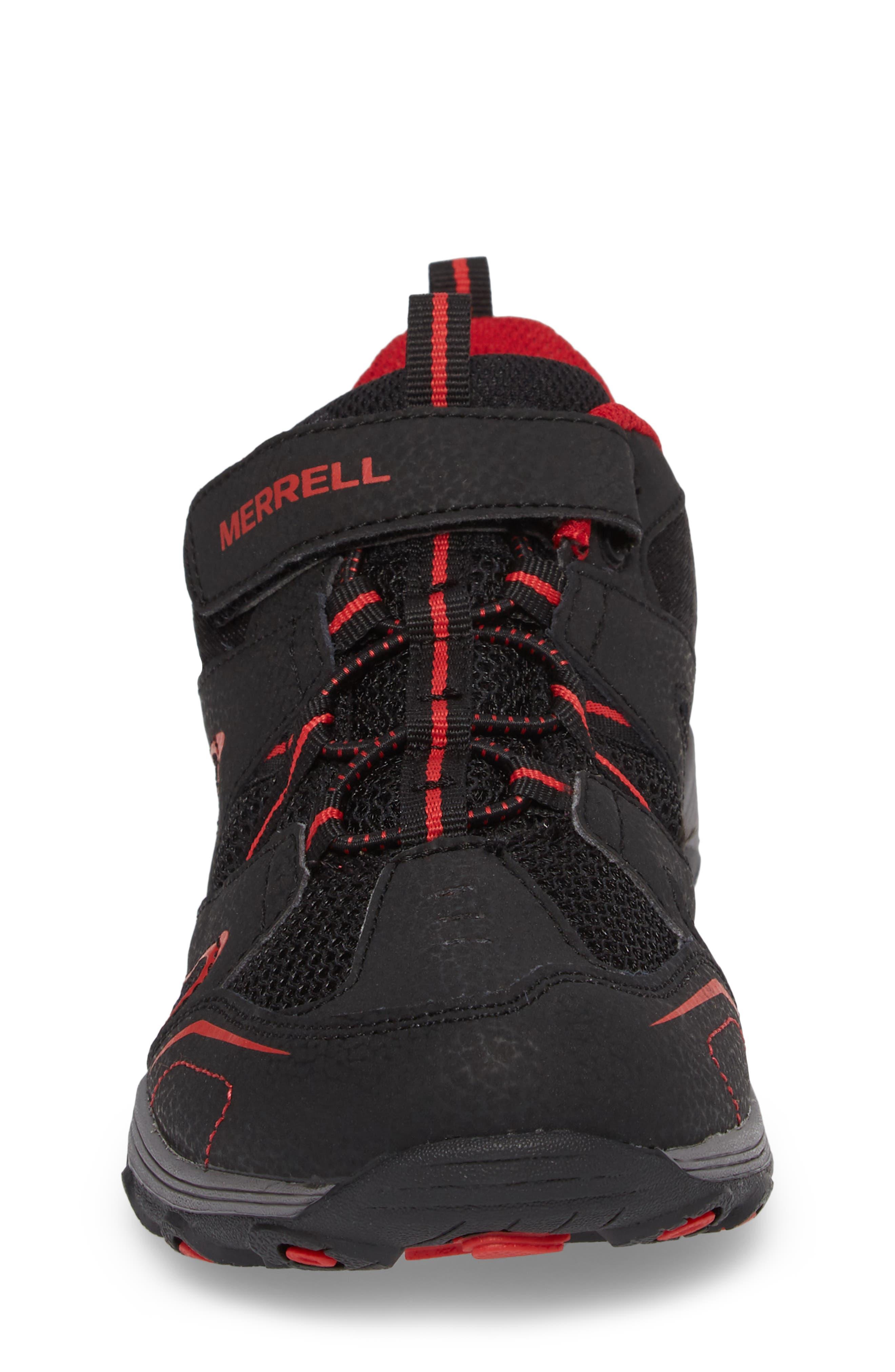 Trail Chaser Sneaker,                             Alternate thumbnail 4, color,                             Black/ Red
