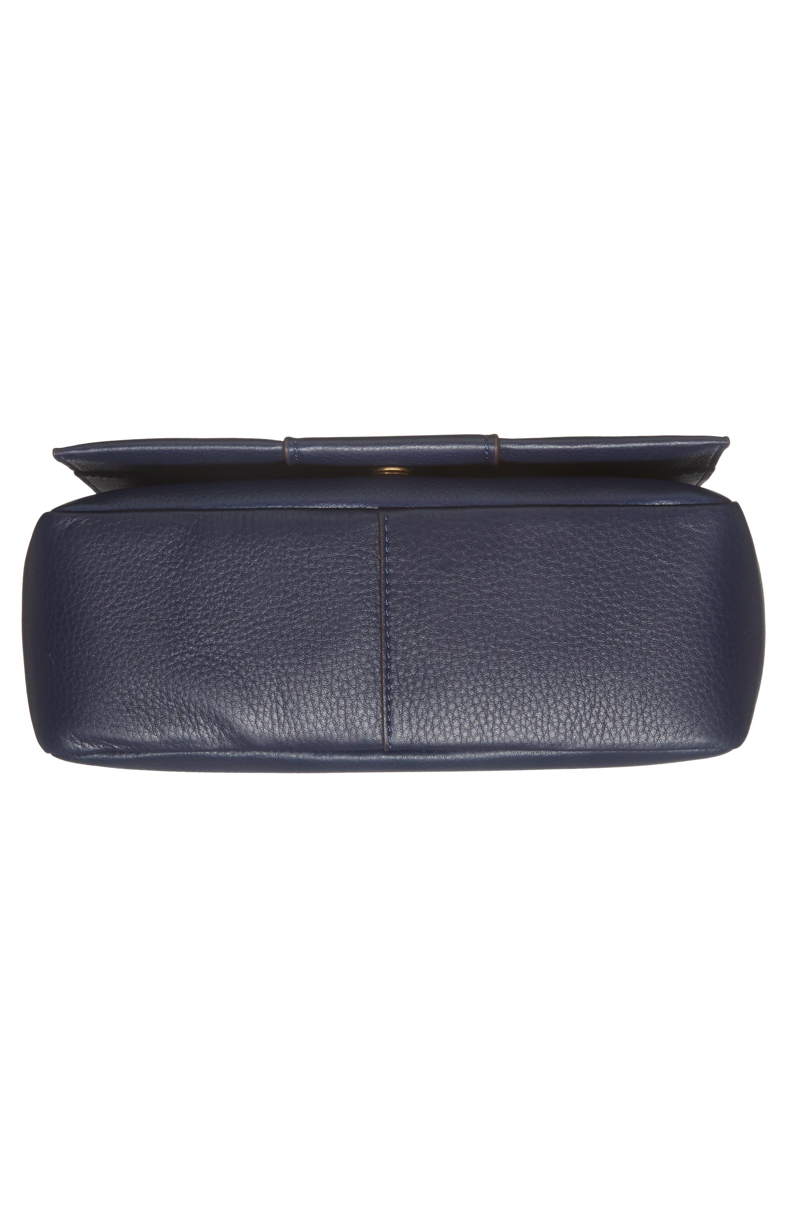 Alternate Image 6  - Tory Burch Block-T Pebbled Leather Shoulder Bag