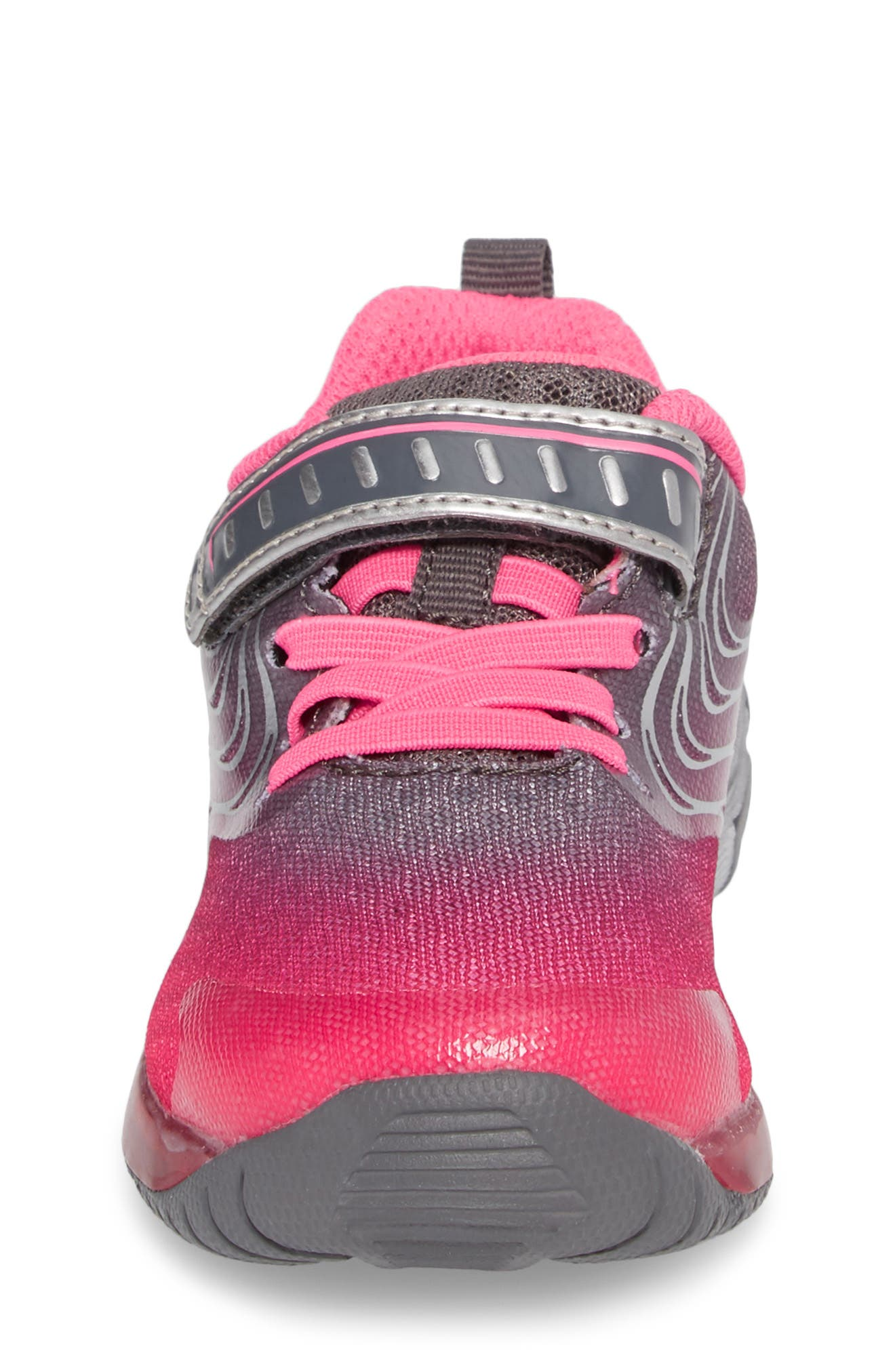 Lights Lux Light-Up Sneaker,                             Alternate thumbnail 4, color,                             Pink Synthetic/ Textile