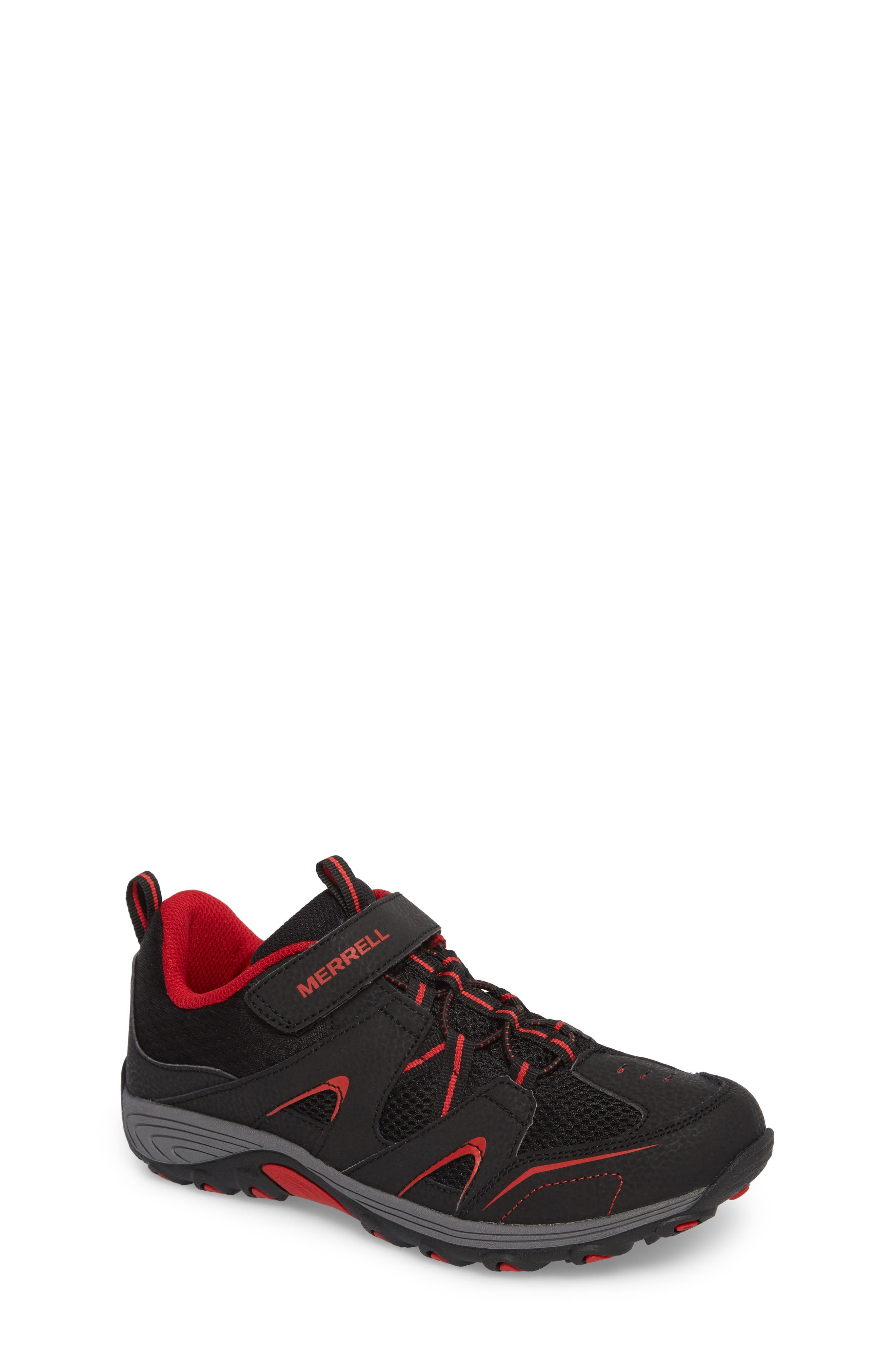 Trail Chaser Sneaker,                         Main,                         color, Black/ Red