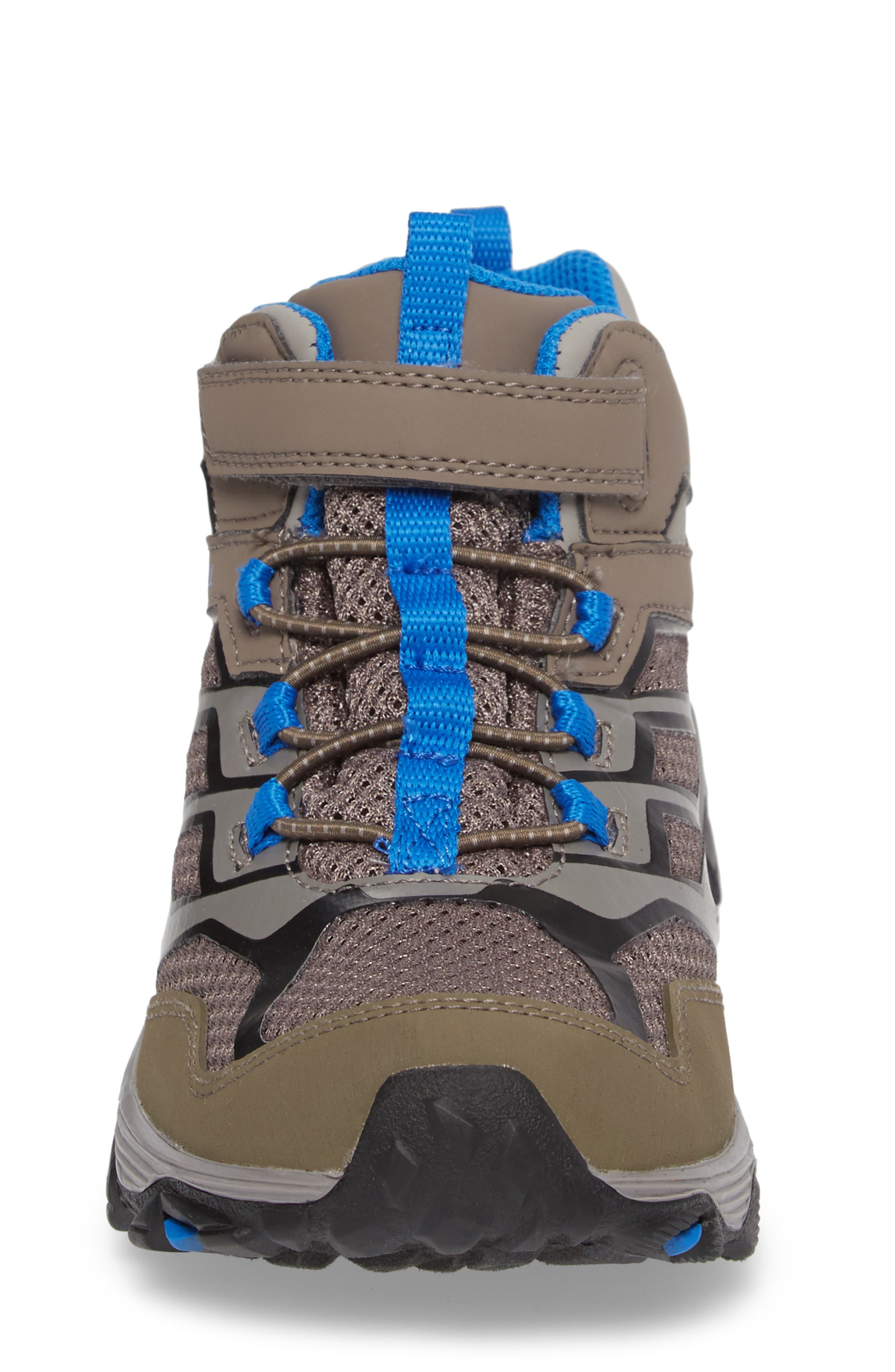 Moab FST Mid Top Waterproof Sneaker Boot,                             Alternate thumbnail 4, color,                             Grey