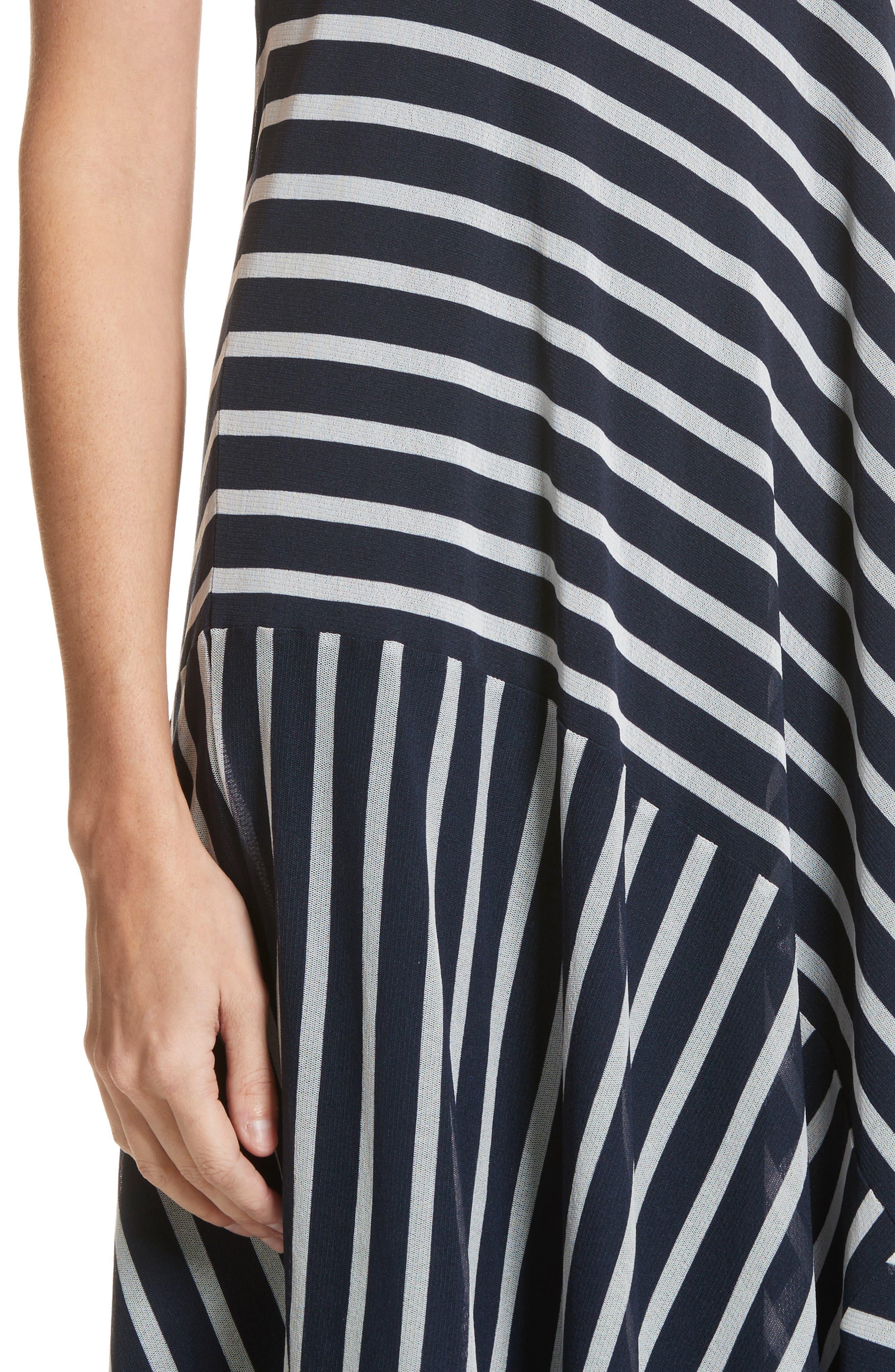 Stripe Maxi Tank Dress,                             Alternate thumbnail 4, color,                             Zaffiro