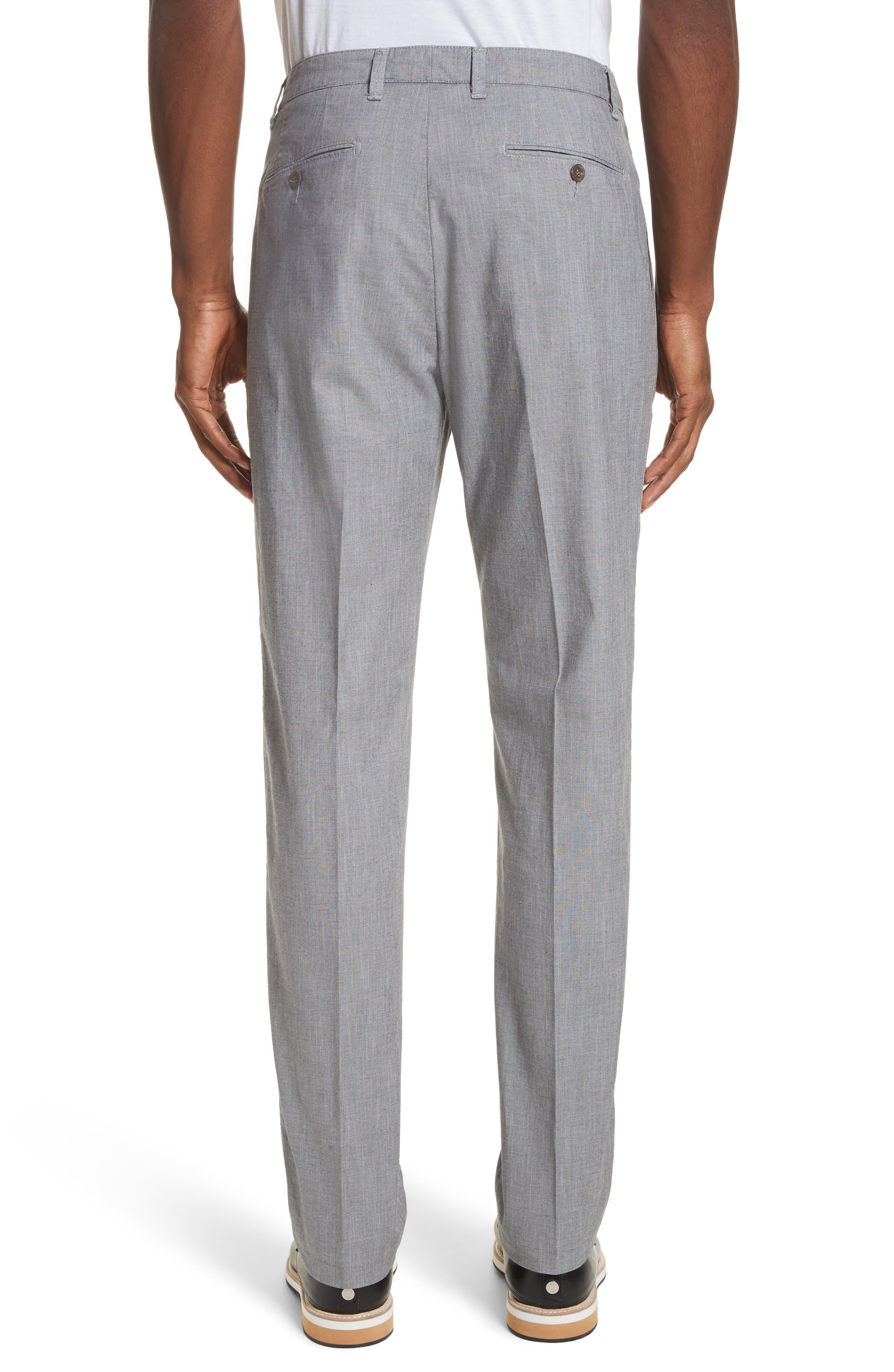 French Pocket Stretch Straight Leg Pants,                             Alternate thumbnail 2, color,                             Grey