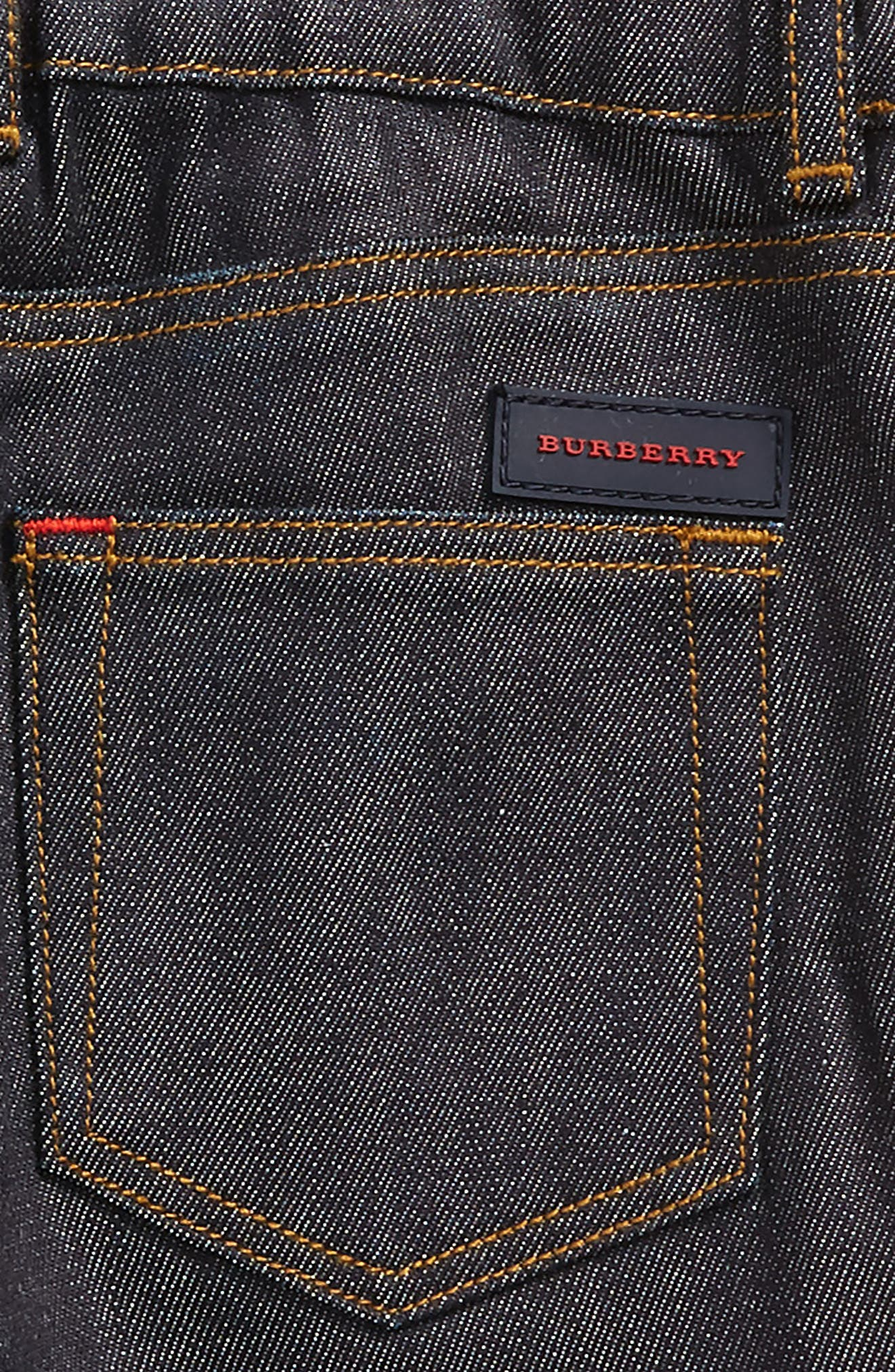 Alternate Image 3  - Burberry Check Cuff Relaxed Jeans (Toddler Boys)