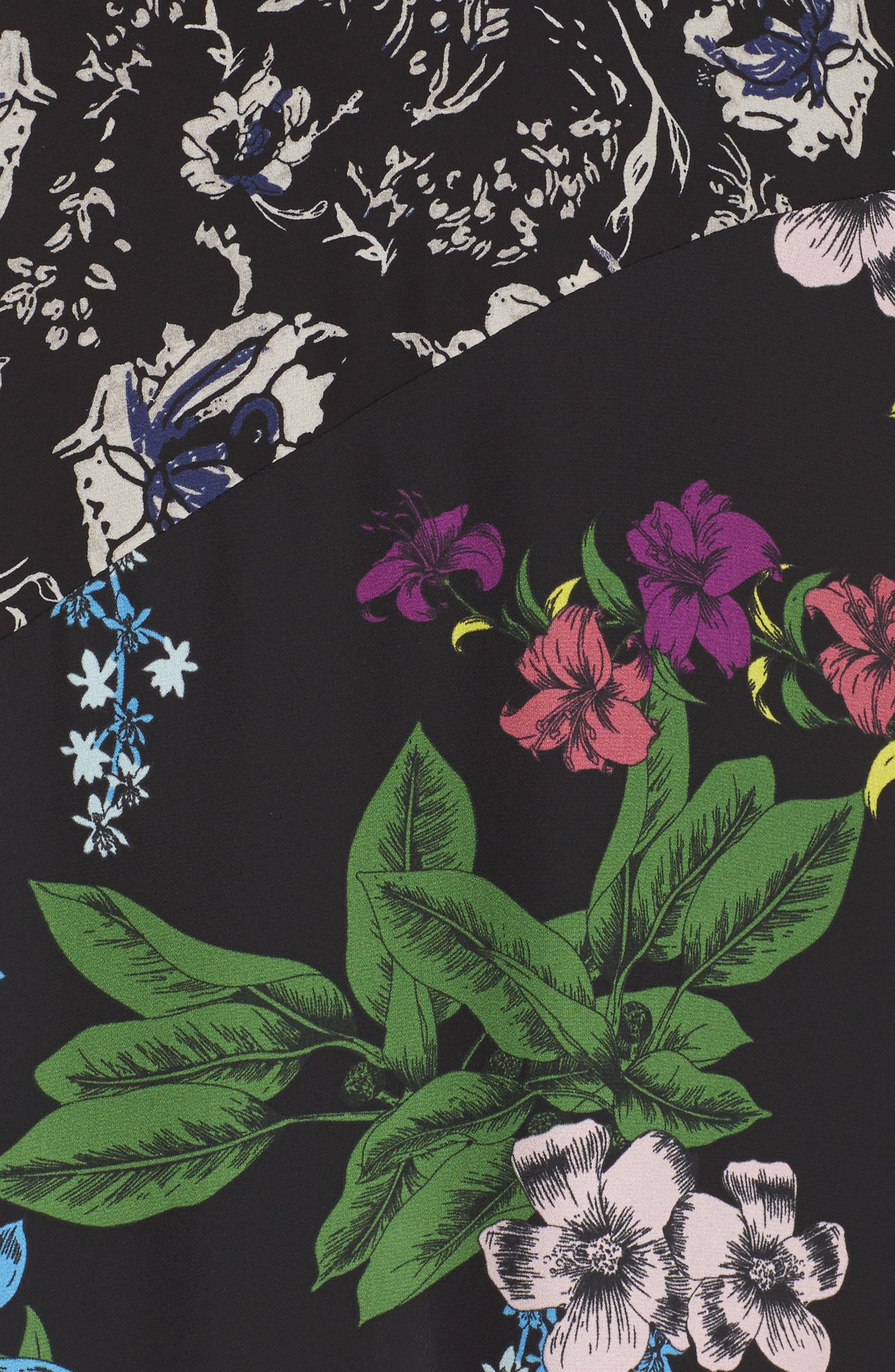 Floral Maxi Dress,                             Alternate thumbnail 5, color,                             Multi Botanical
