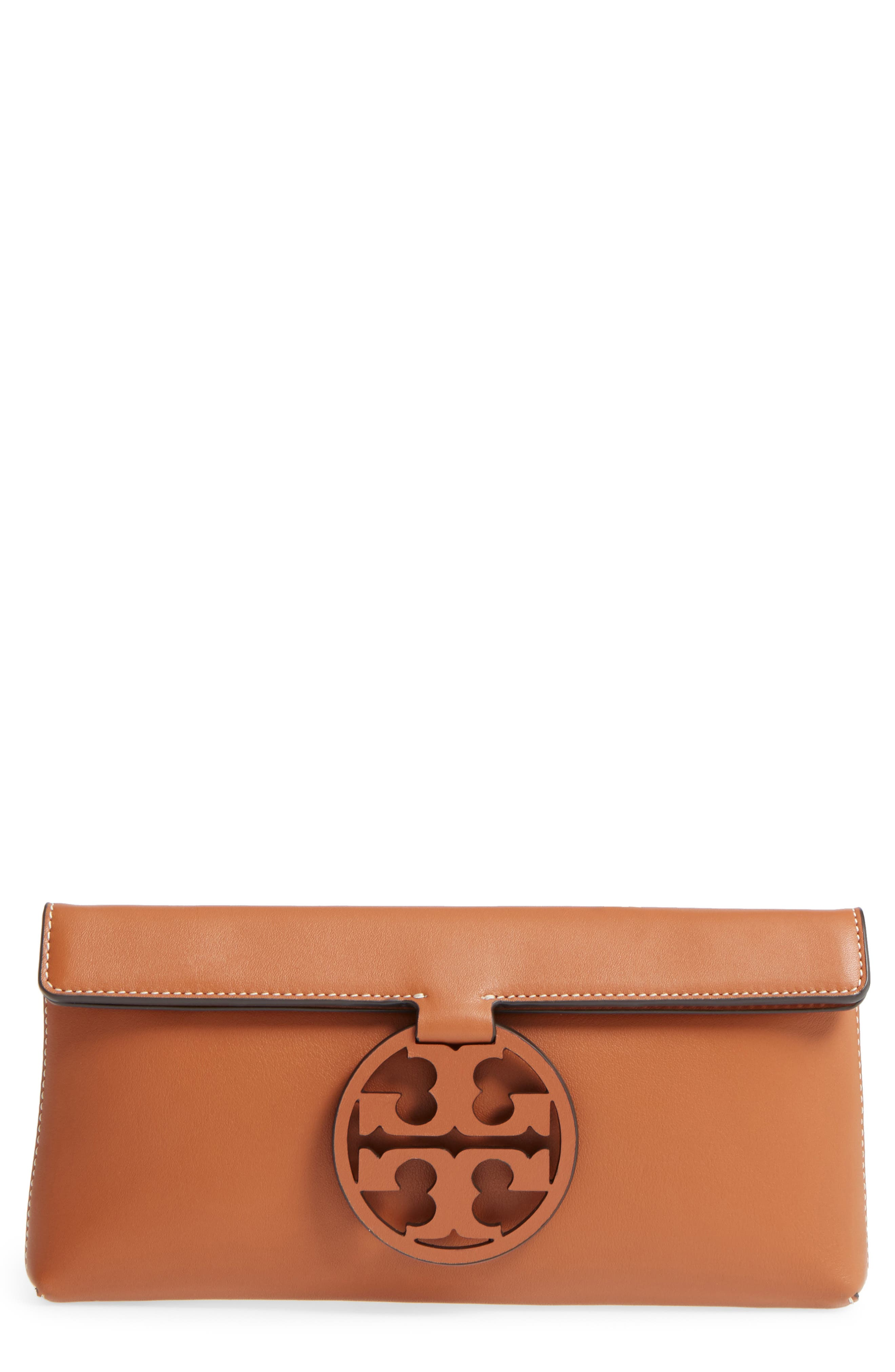 Miller Leather Clutch,                             Main thumbnail 1, color,                             New Cuoio
