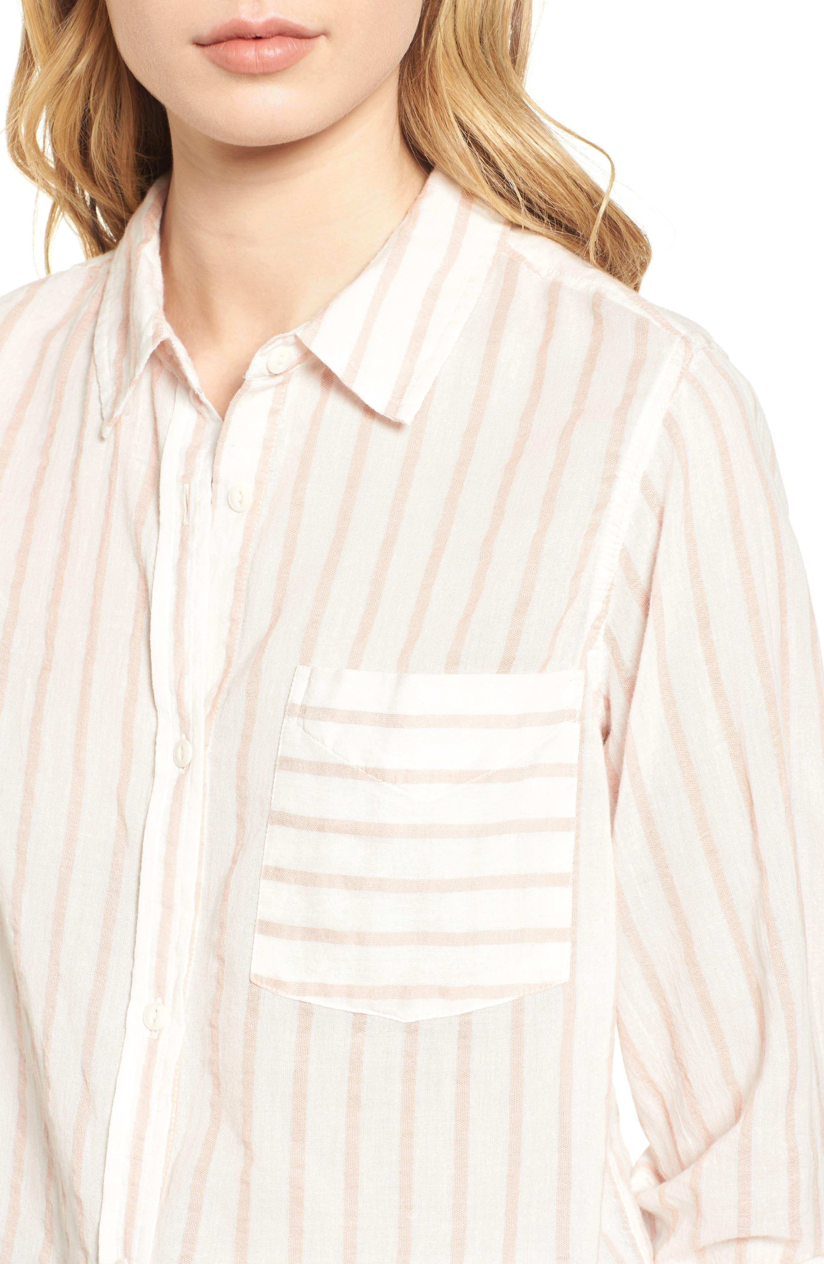 The Boyfriend Shirt,                             Alternate thumbnail 4, color,                             Gable Stripe