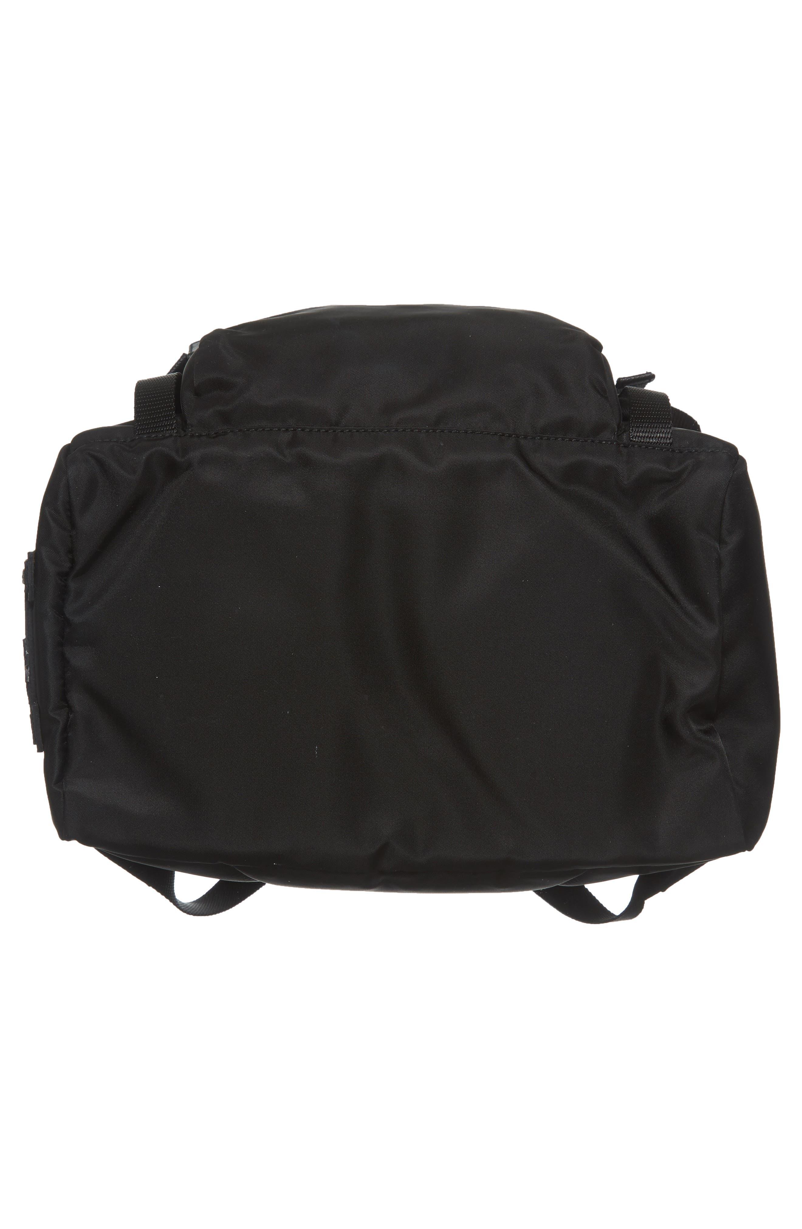 Tessuto Lettering Unisex Nylon Backpack,                             Alternate thumbnail 6, color,                             Nero 1