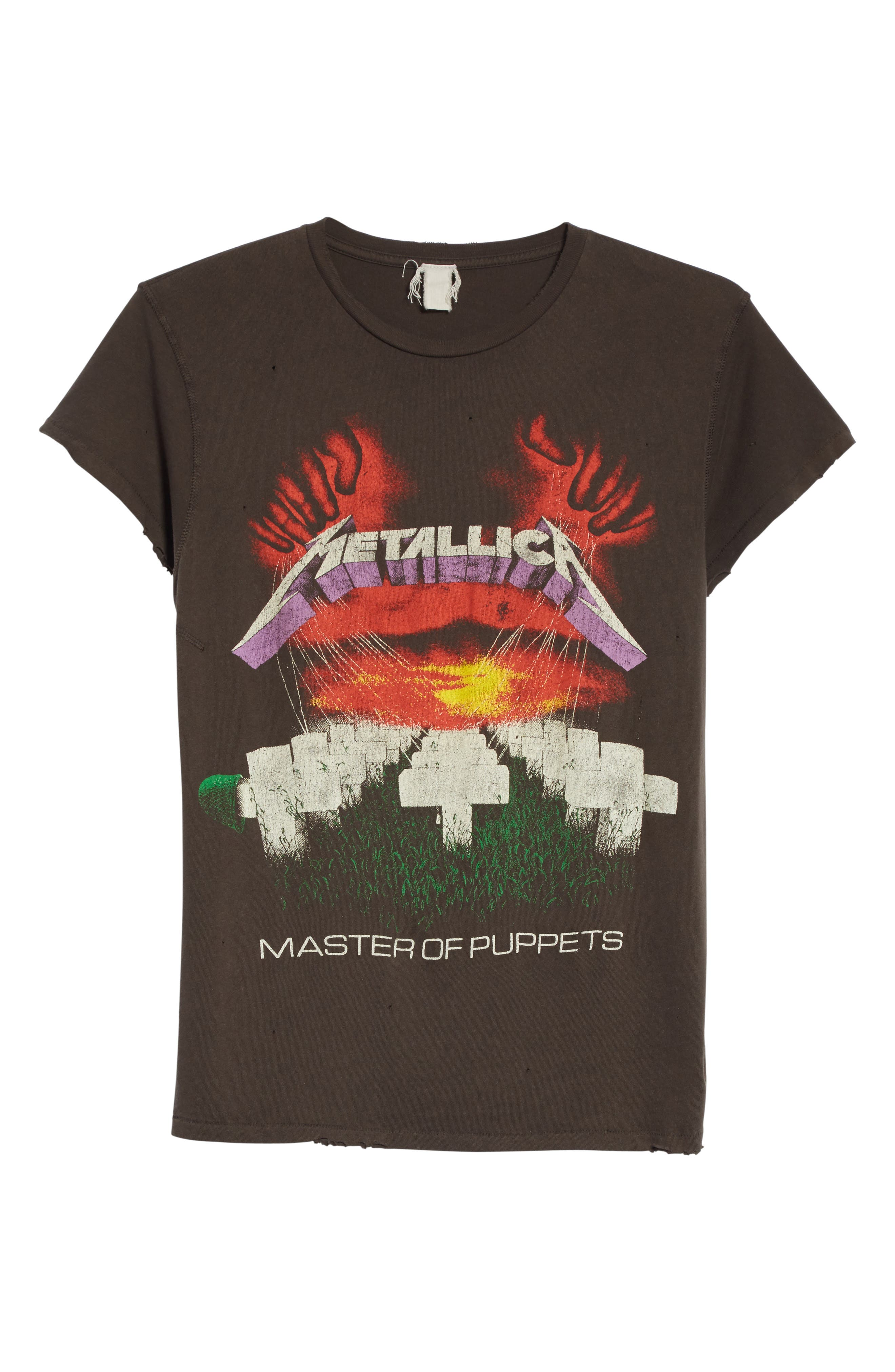 Metallica Master of Puppets Graphic T-Shirt,                             Alternate thumbnail 6, color,                             Dirty Black