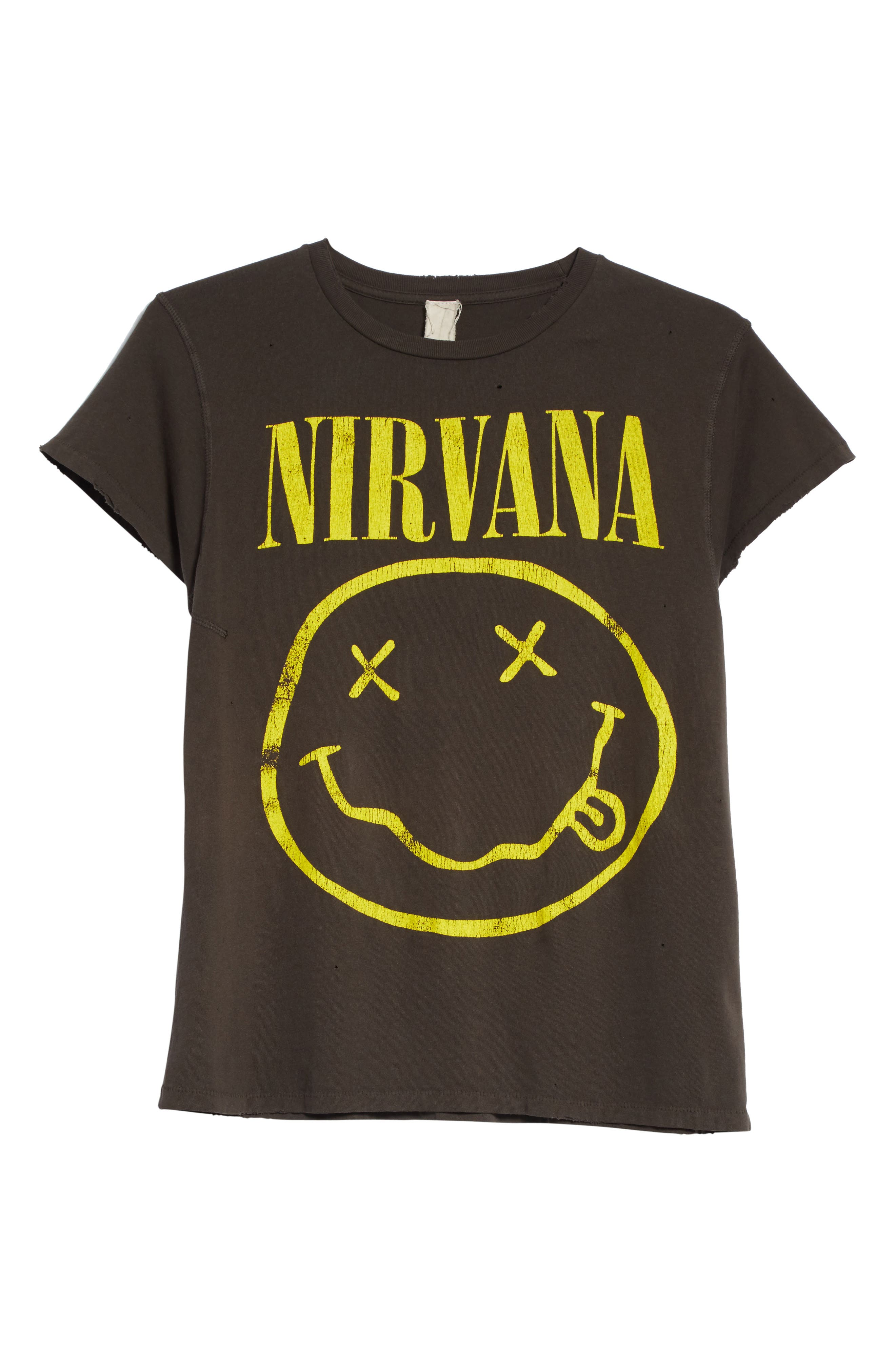 Nirvana Graphic T-Shirt,                             Alternate thumbnail 6, color,                             Dirty Black