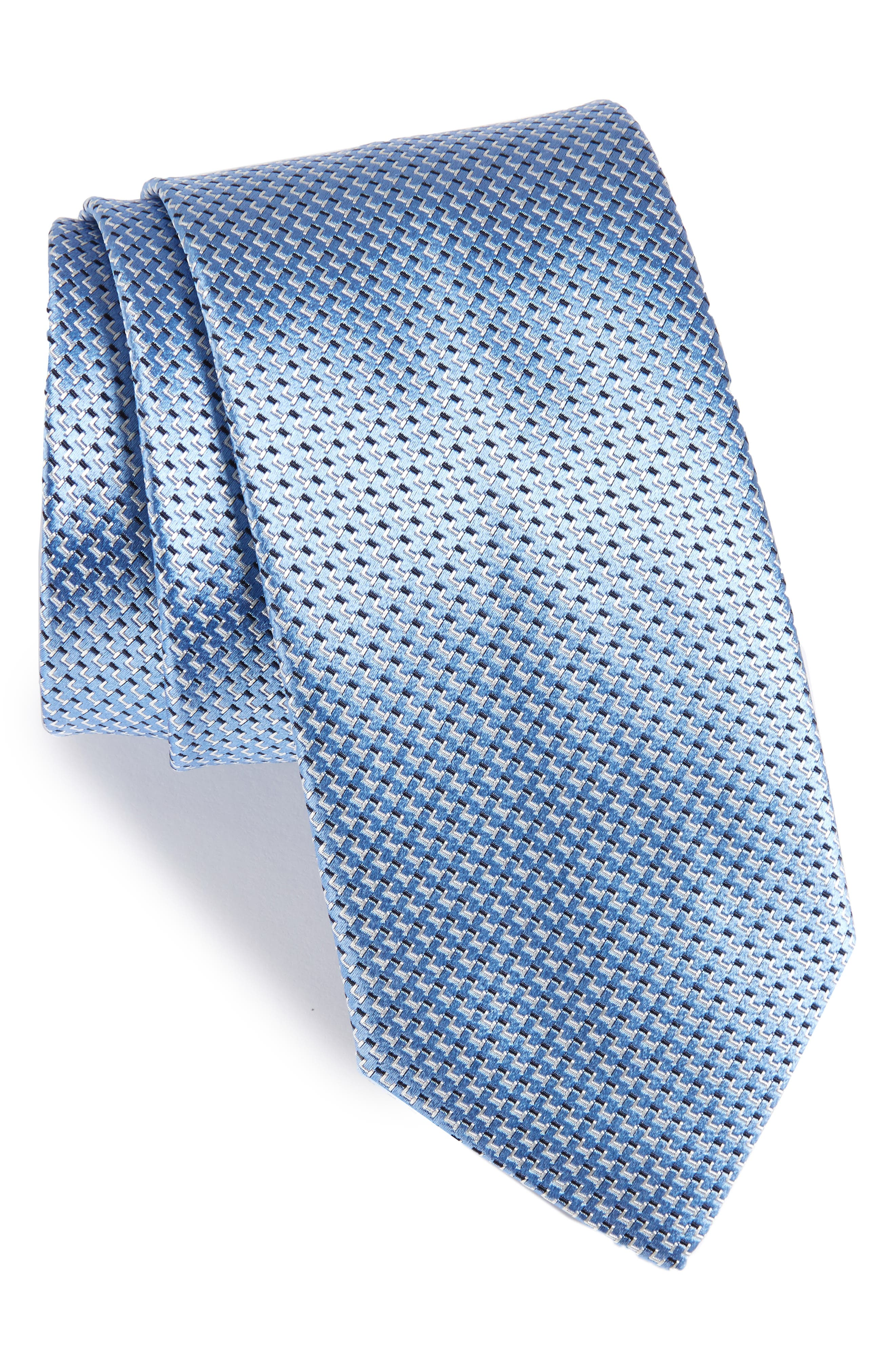 Solid Silk Tie,                             Main thumbnail 1, color,                             Light Blue