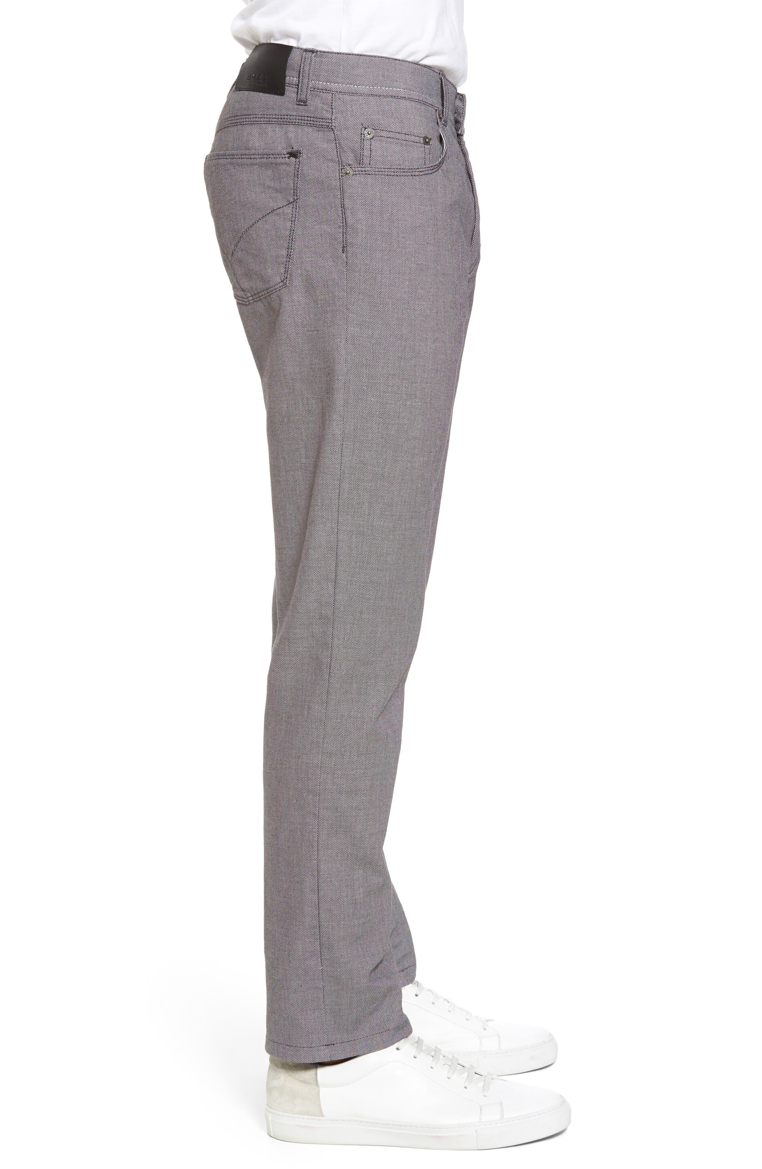Cooper Bird's Eye Stretch Cotton Pants,                             Alternate thumbnail 3, color,                             Grey