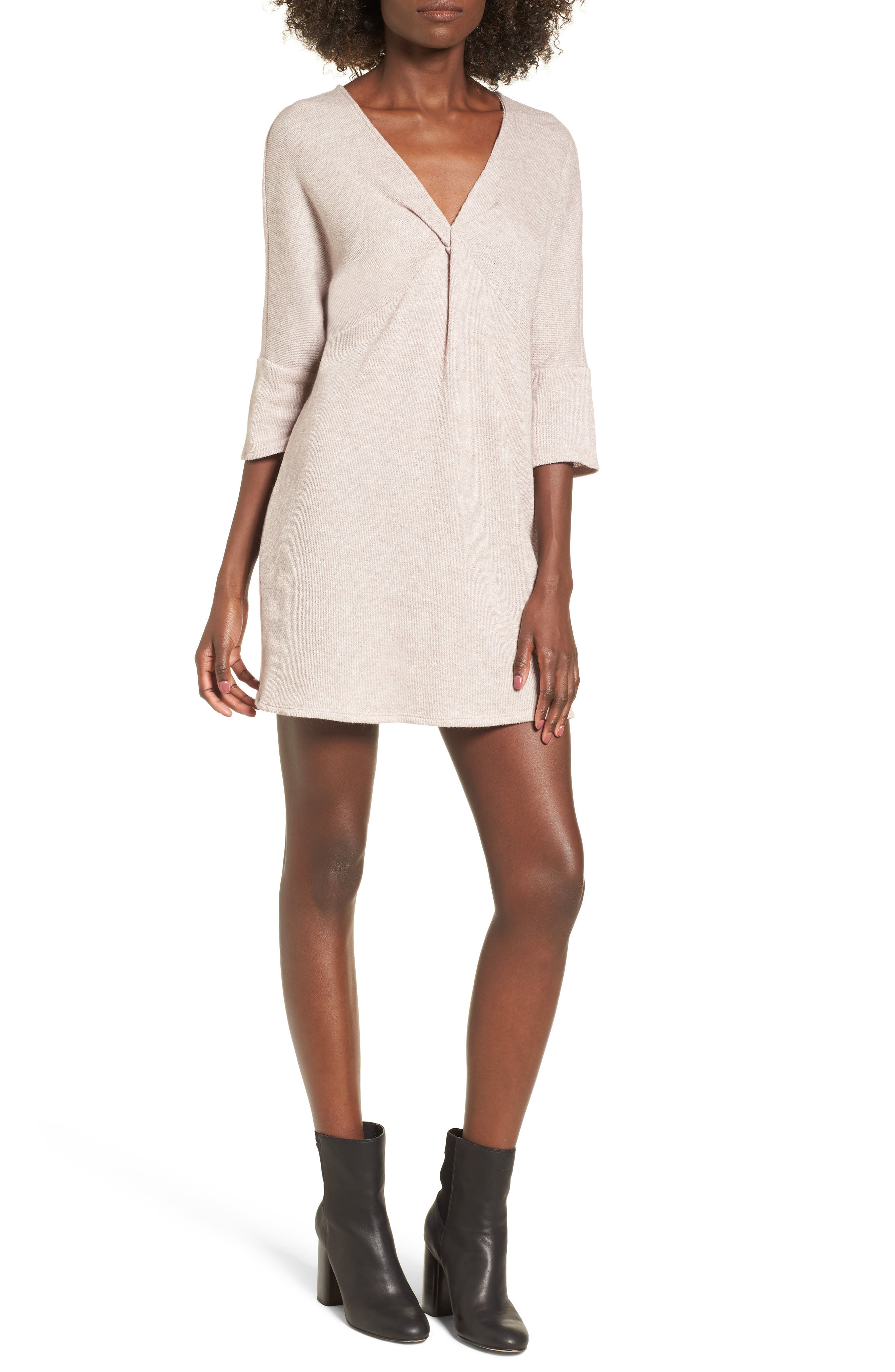 Dee Elly Knot Front Sweater Dress