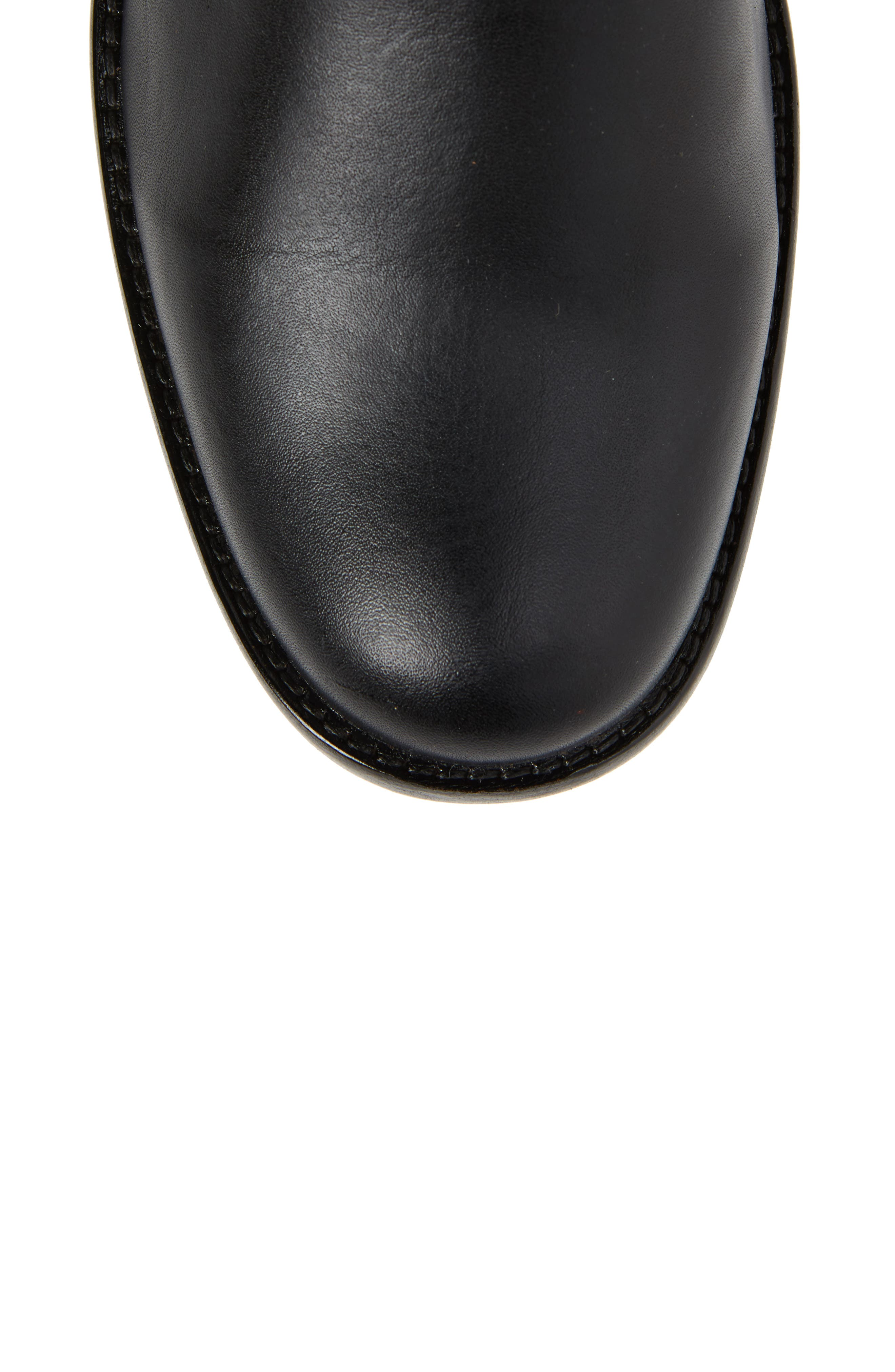 Phillip Harness Tall Boot,                             Alternate thumbnail 5, color,                             Black Leather