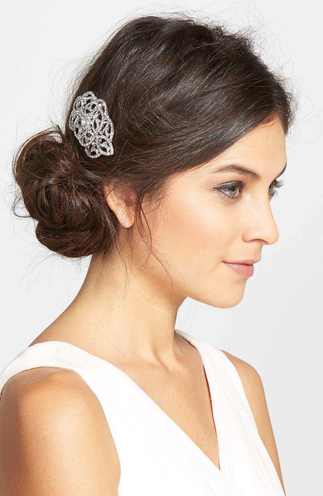 Crystal Hair Comb,                         Main,                         color, Crystal/ Silver