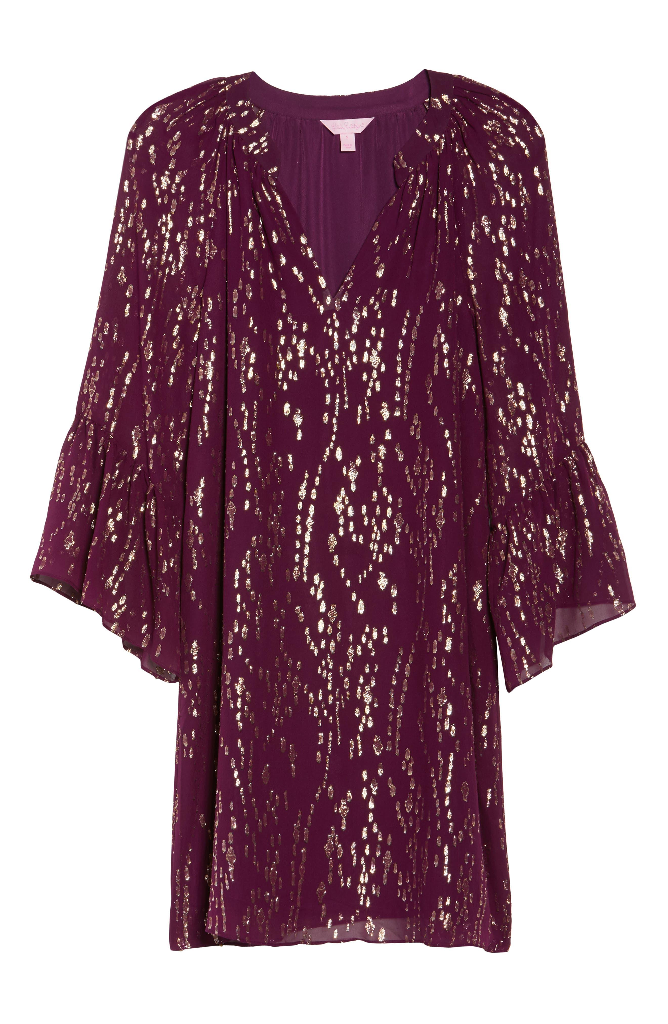 Matilda Tunic Dress,                             Alternate thumbnail 6, color,                             Shiraz